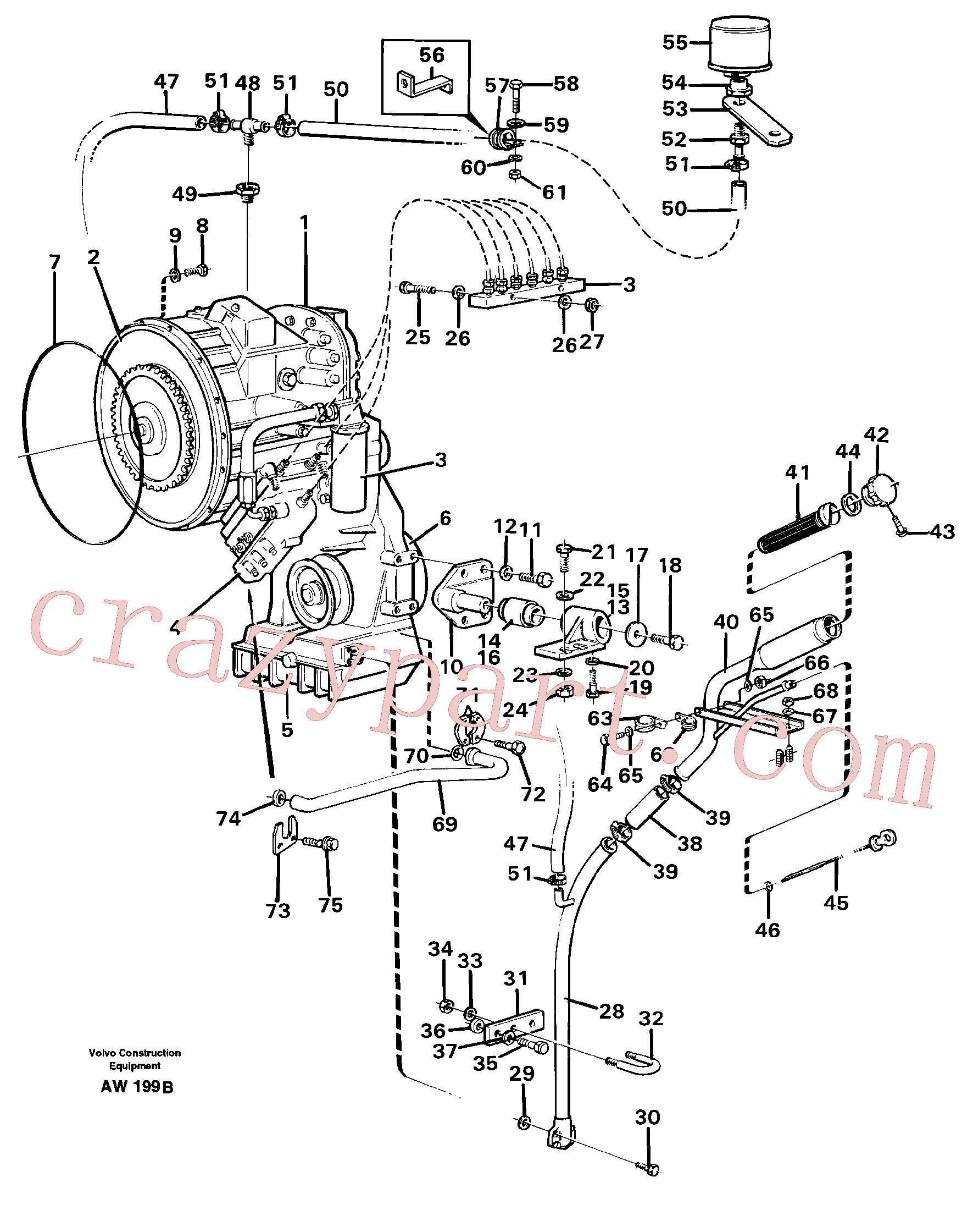 VOE955373 for Volvo Hydraulic transmission with fitting parts(AW199B assembly)