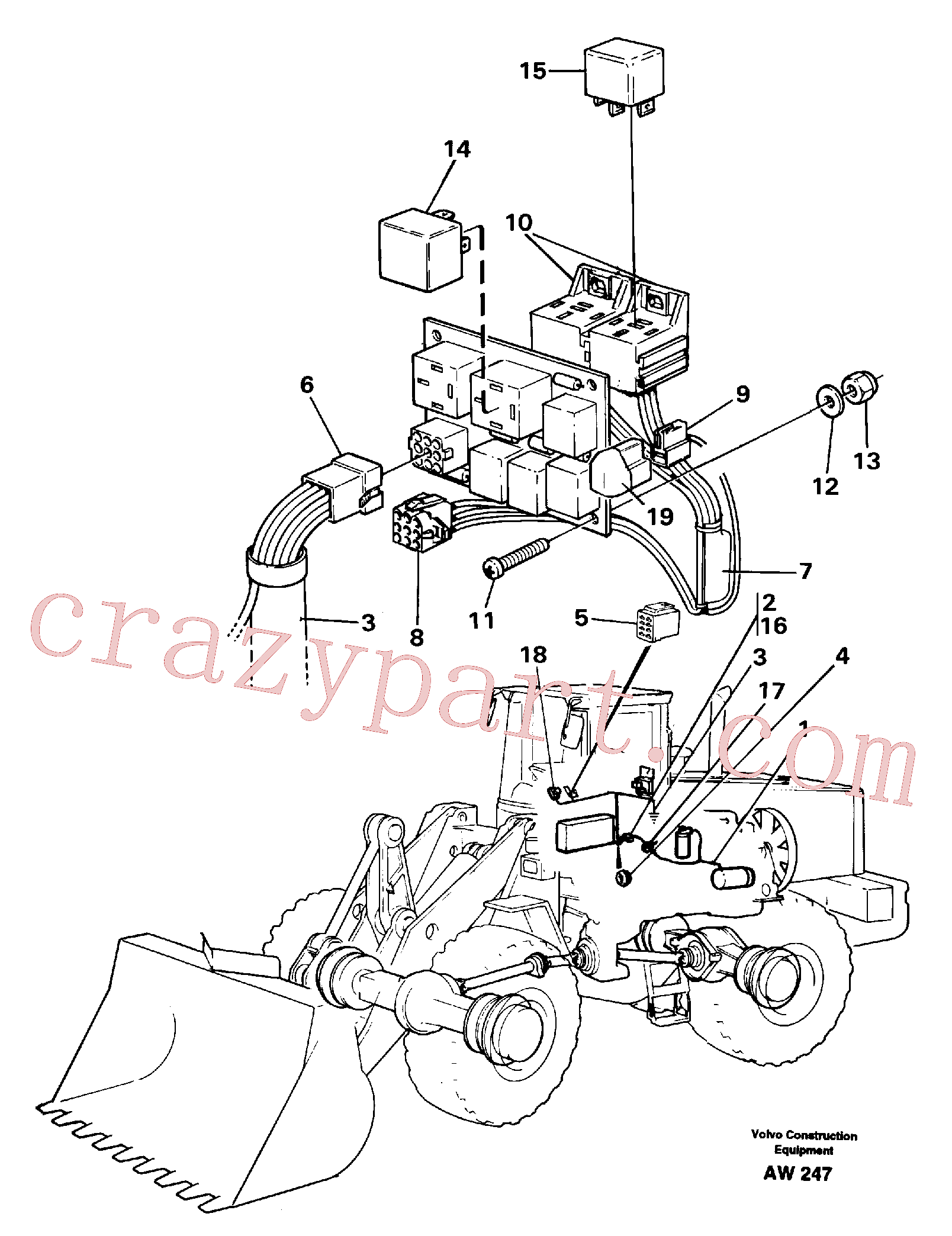 VOE14210353 for Volvo Cable harness for air conditioning.(AW247 assembly)