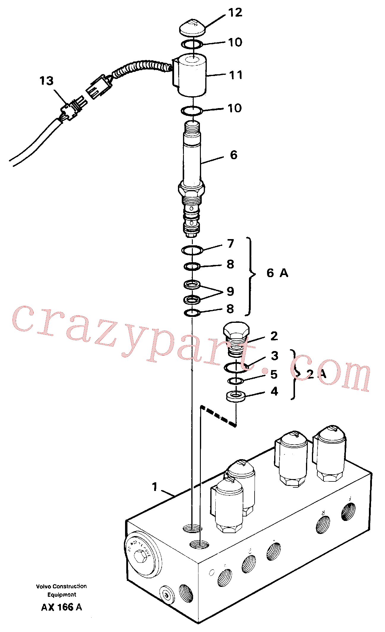 VOE15090757 for Volvo Solenoid valve(AX166A assembly)