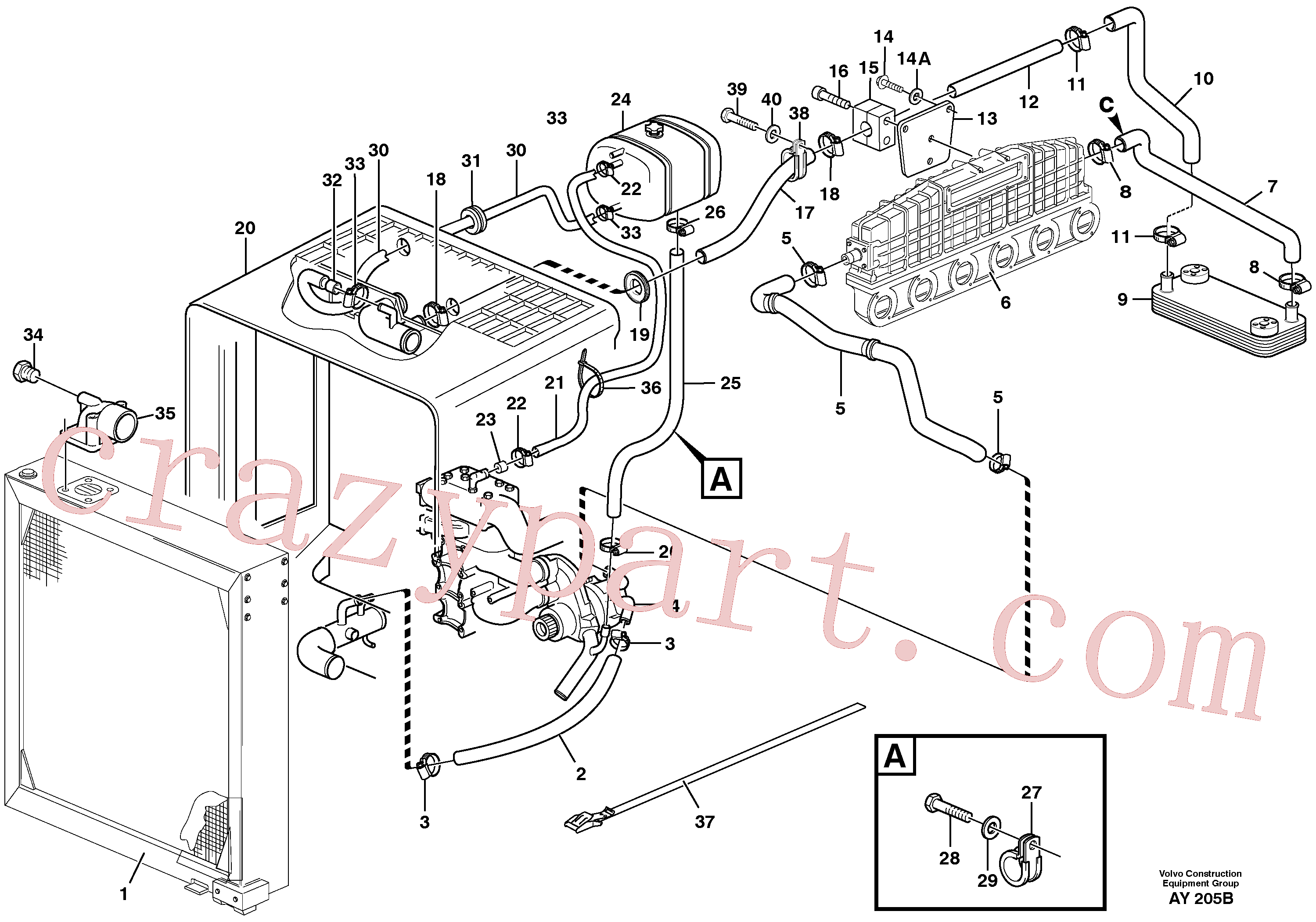 VOE959213 for Volvo Cooling system(AY205B assembly)
