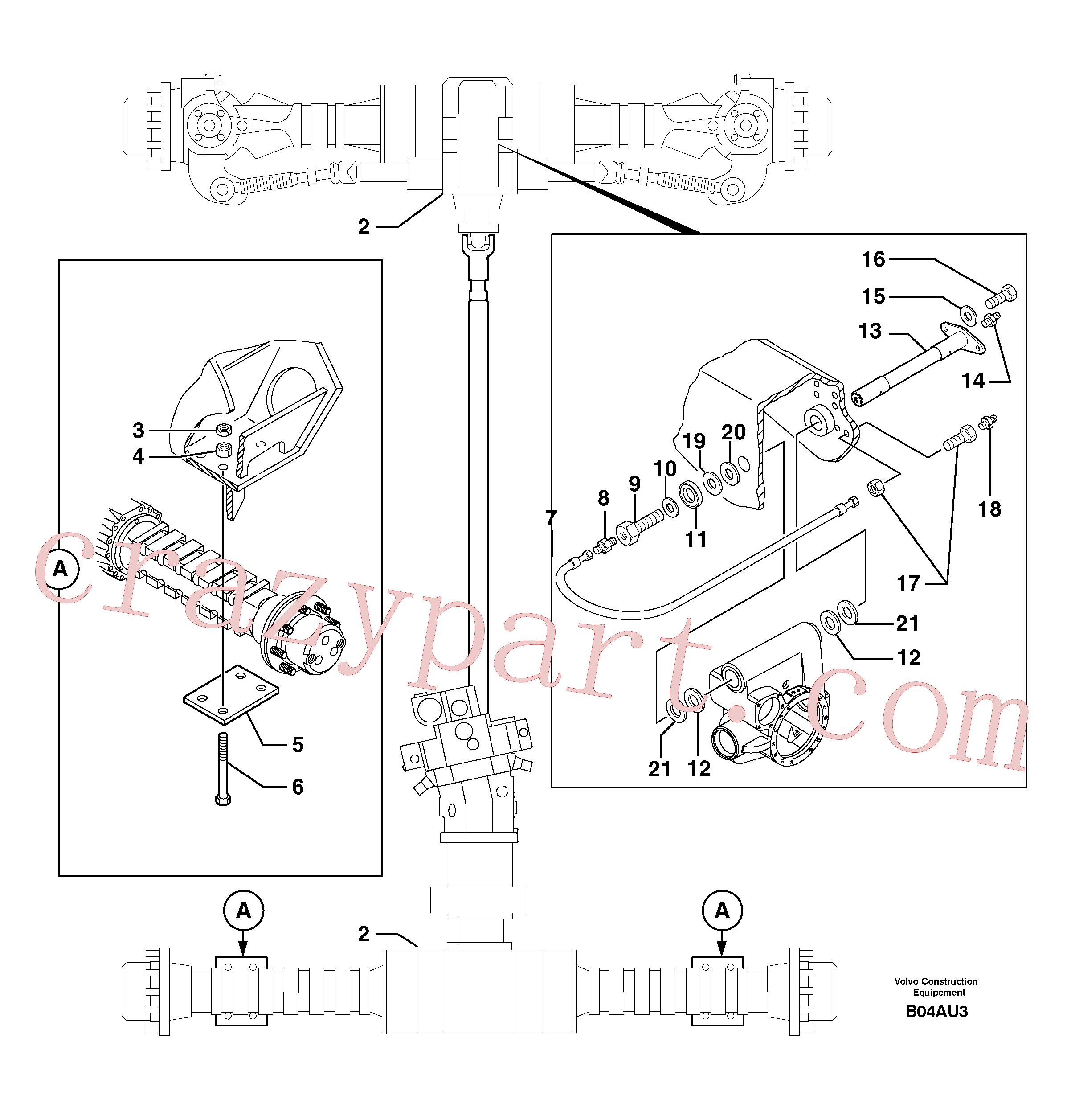PJ4400027 for Volvo Axle cradles and mountings(B04AU3 assembly)