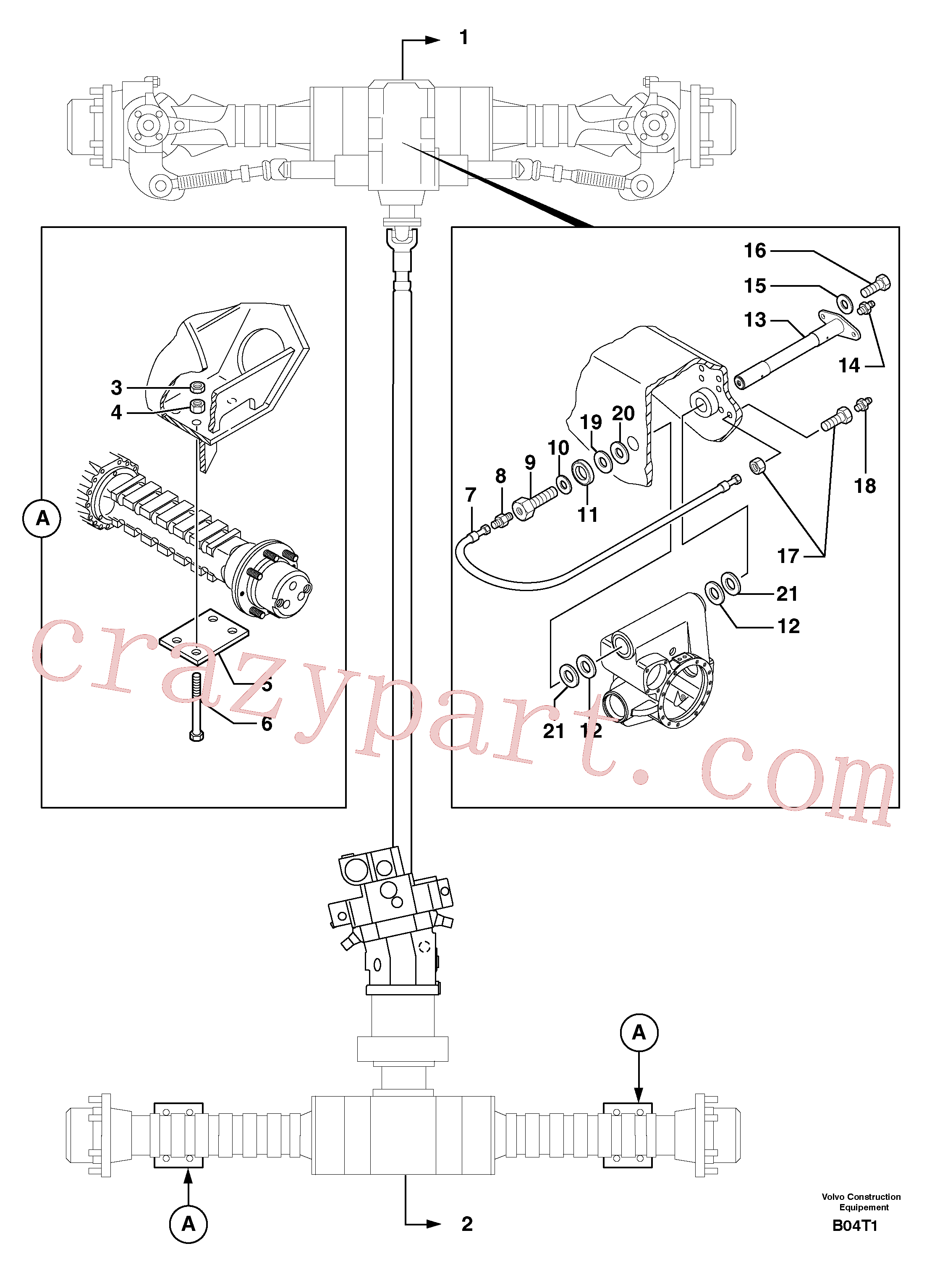 PJ4400027 for Volvo Axle cradles and mountings(B04T1 assembly)