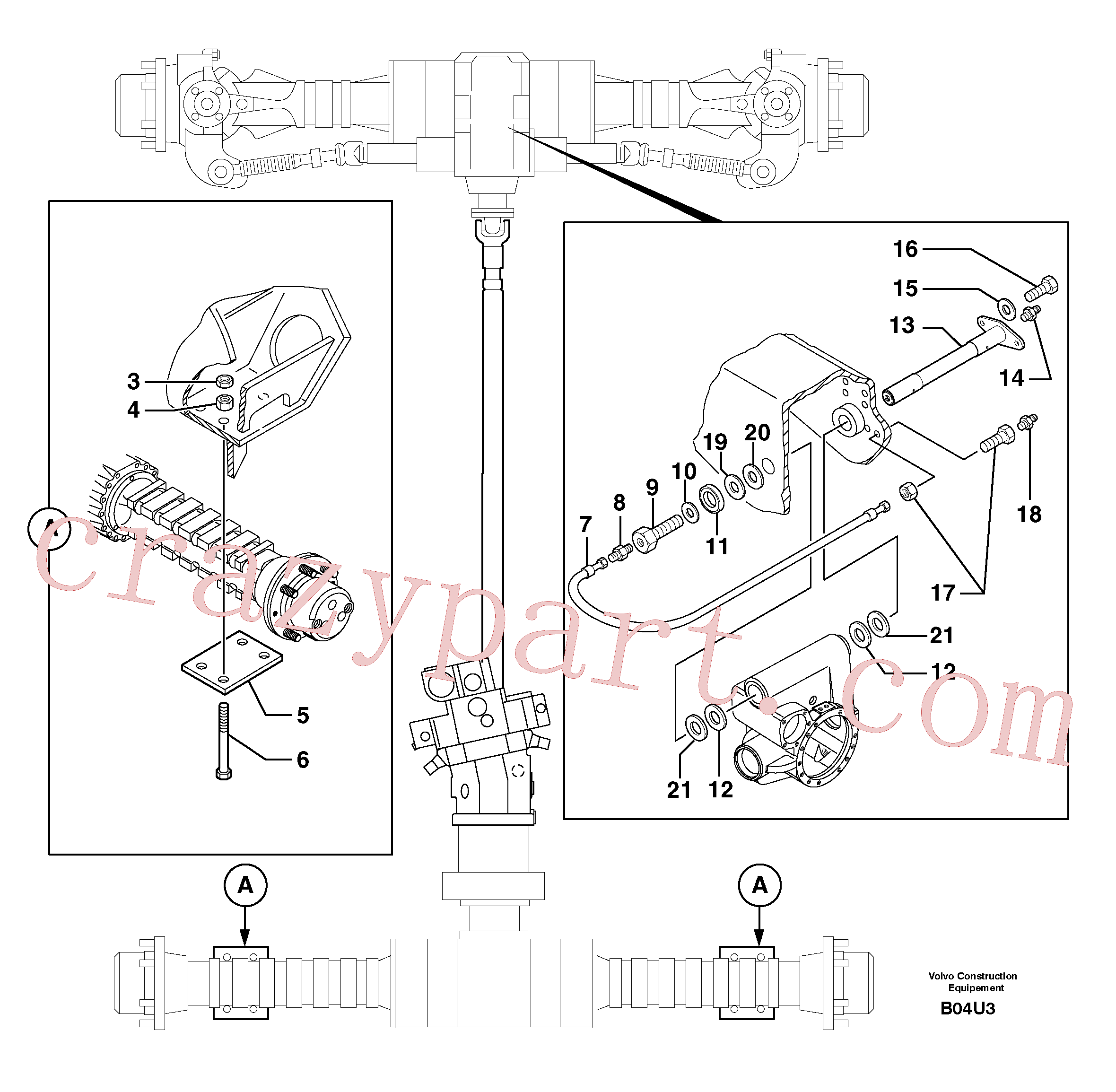 PJ4400027 for Volvo Axle cradles and mountings(B04U3 assembly)