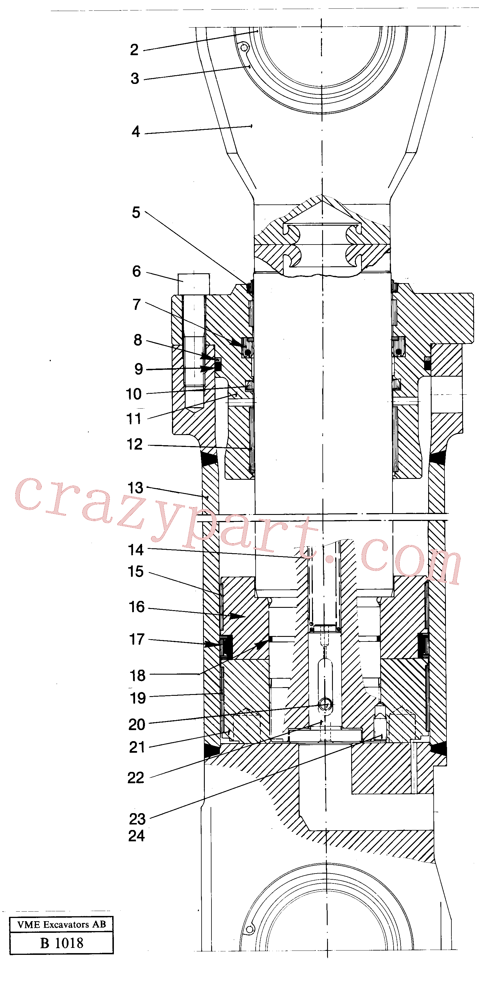 VOE14345731 for Volvo Bucket cylinder(B1018 assembly)