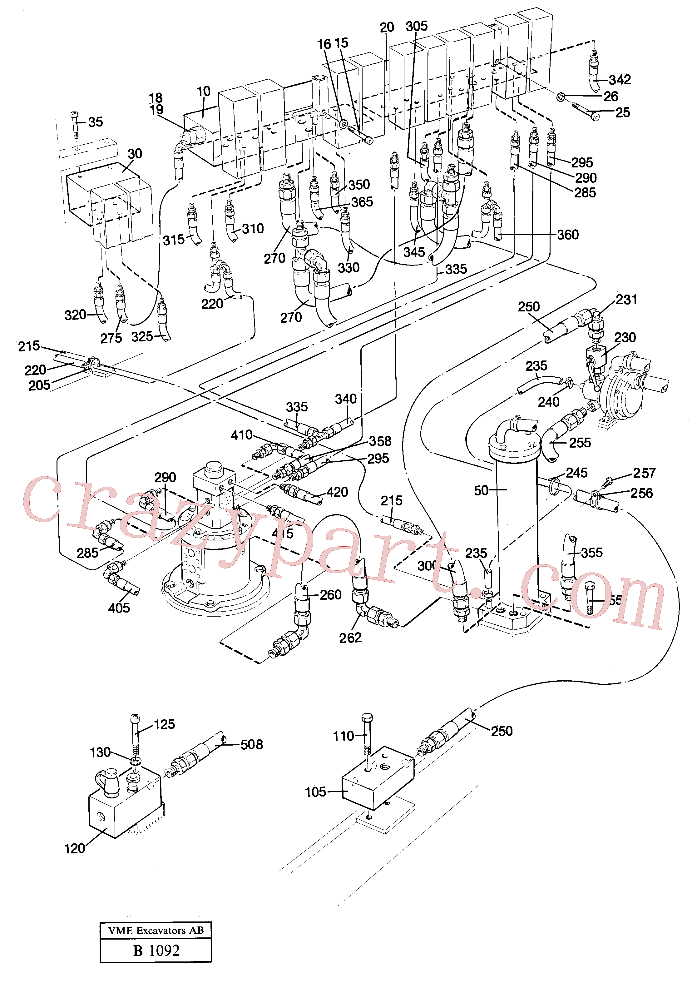 VOE14246022 for Volvo Lines in valve compartment(B1092 assembly)