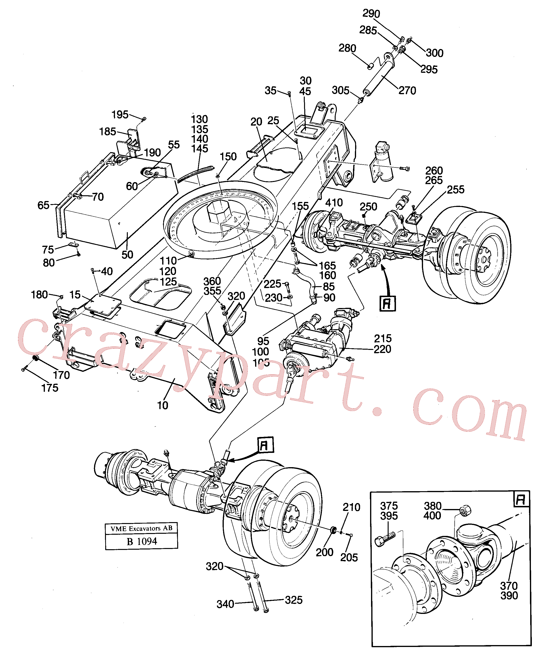 VOE14238199 for Volvo Undercarriage(B1094 assembly)