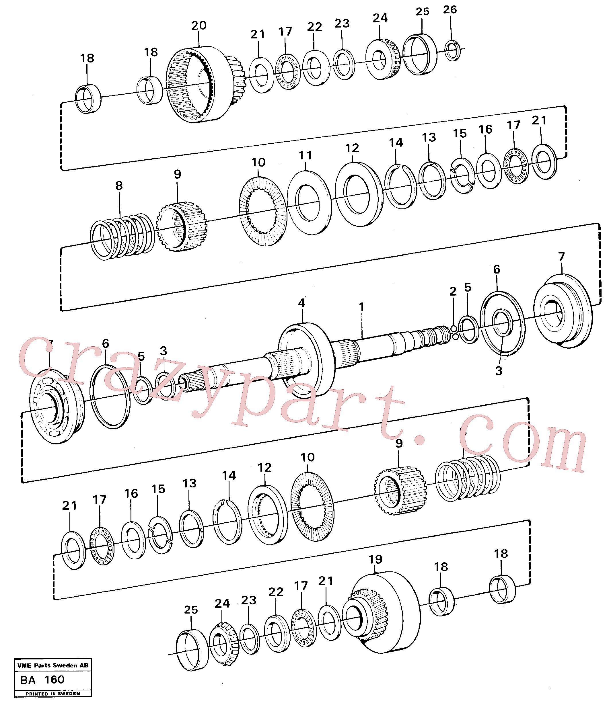 VOE11037197 for Volvo Clutches forward and reverse(BA160 assembly)