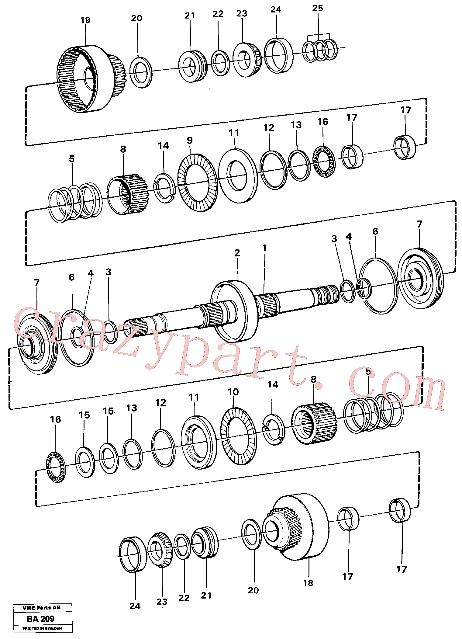 VOE11037197 for Volvo Clutches forward and reverse(BA209 assembly)