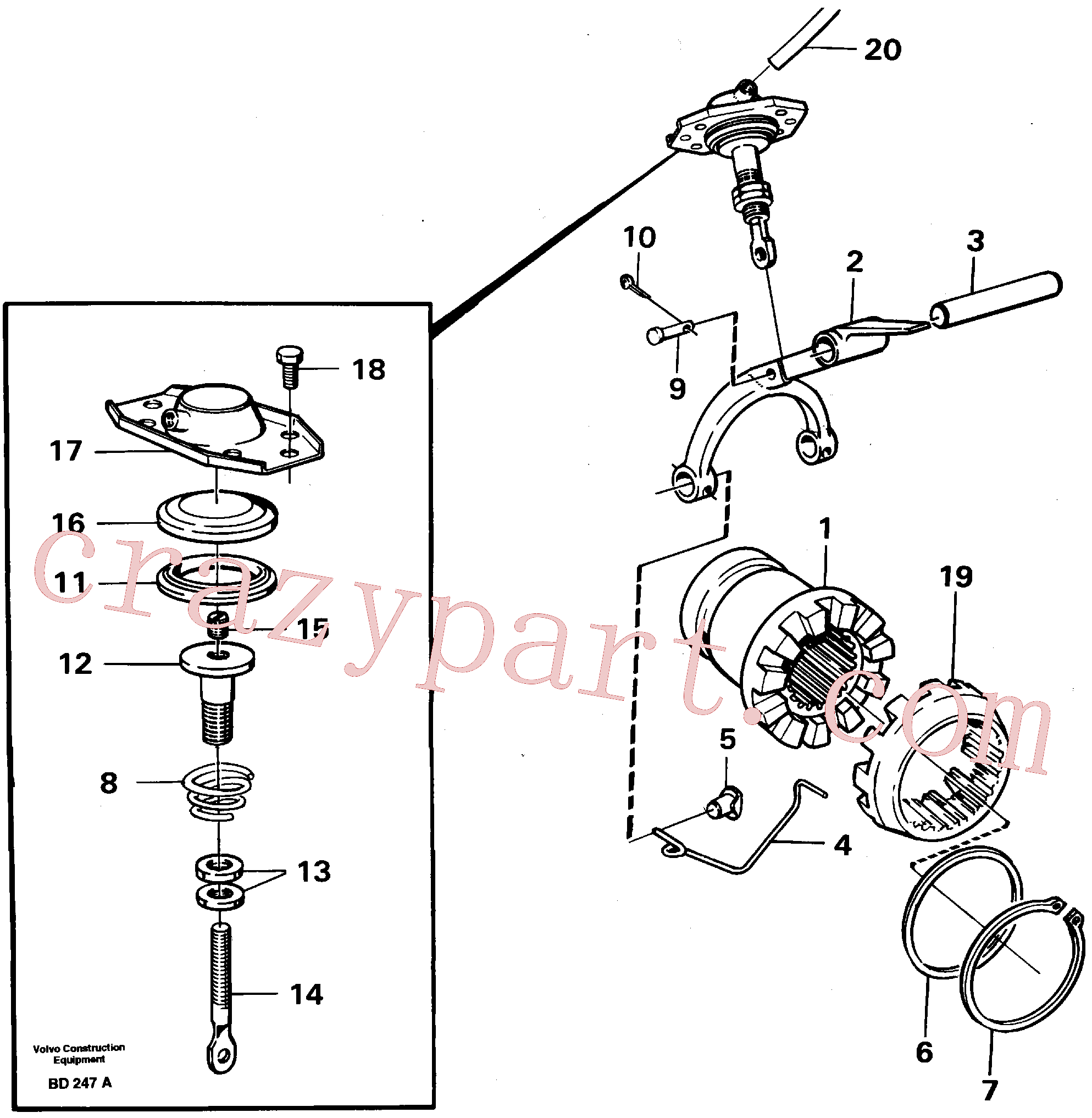 VOE7383971 for Volvo Differential lock(BD247A assembly)