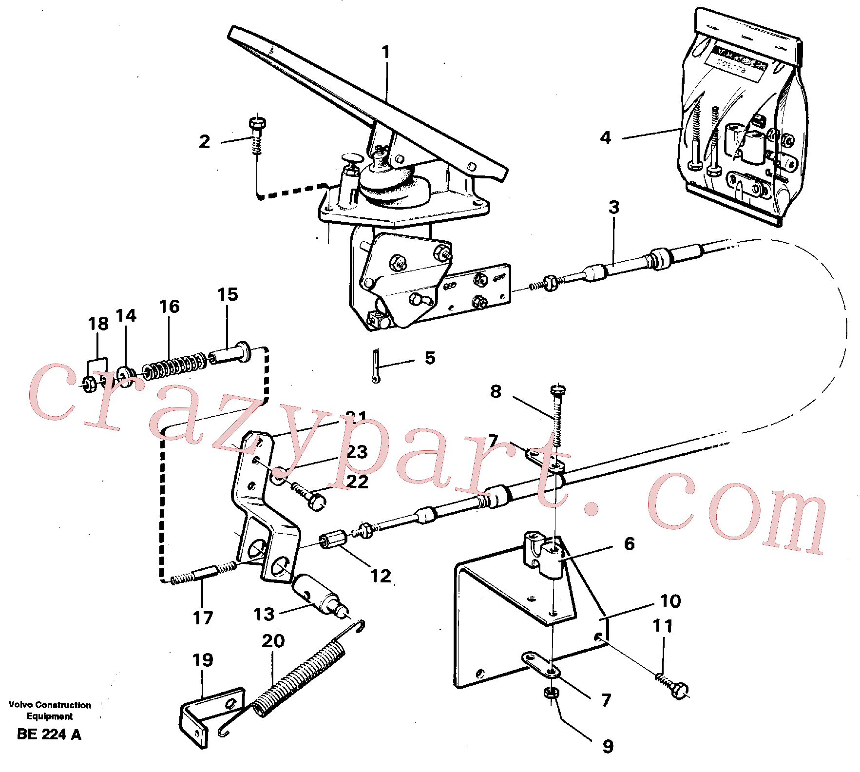 VOE14014882 for Volvo Governor controls.(BE224A assembly)