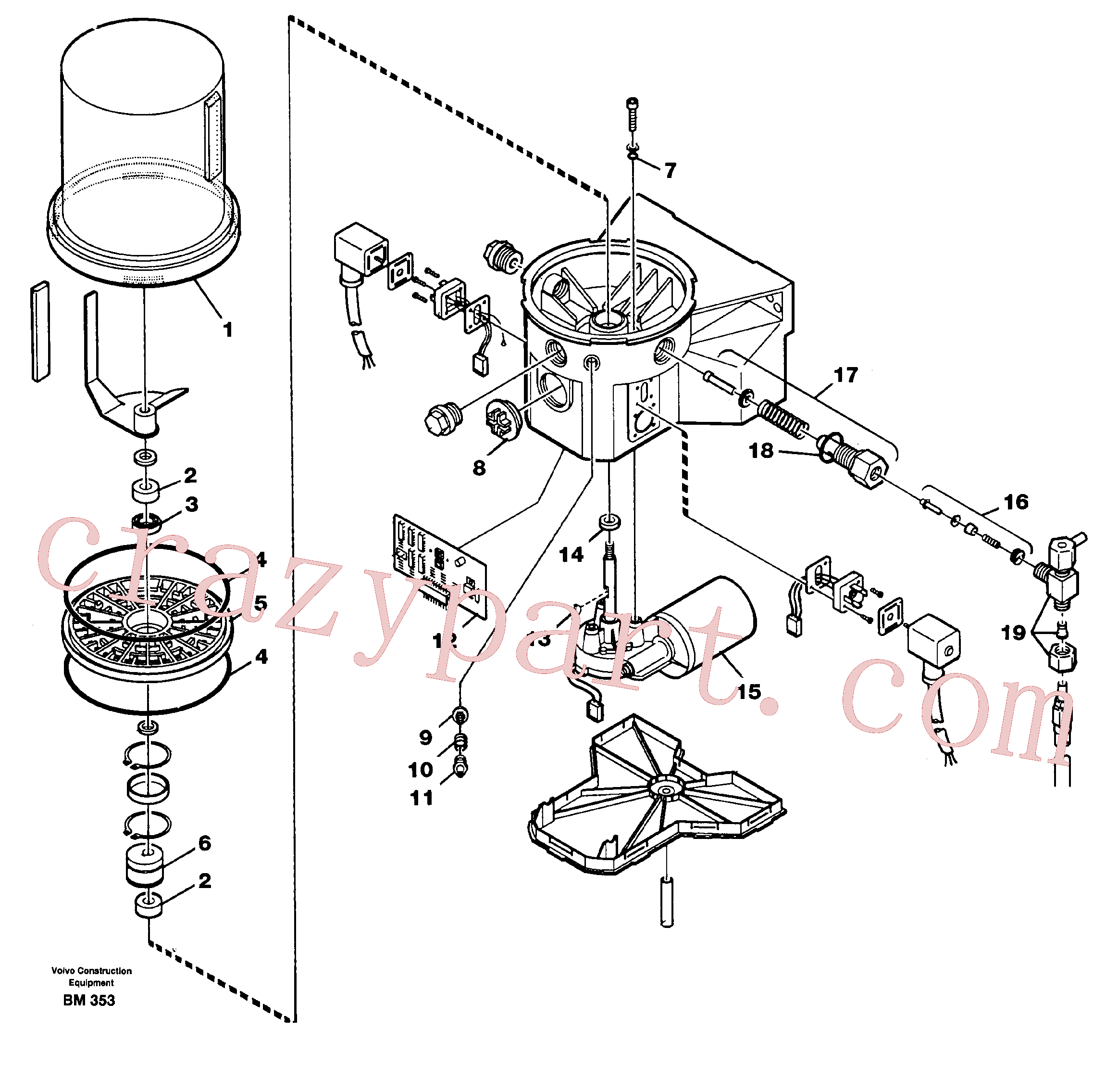 VOE11701476 for Volvo Pump(BM353 assembly)