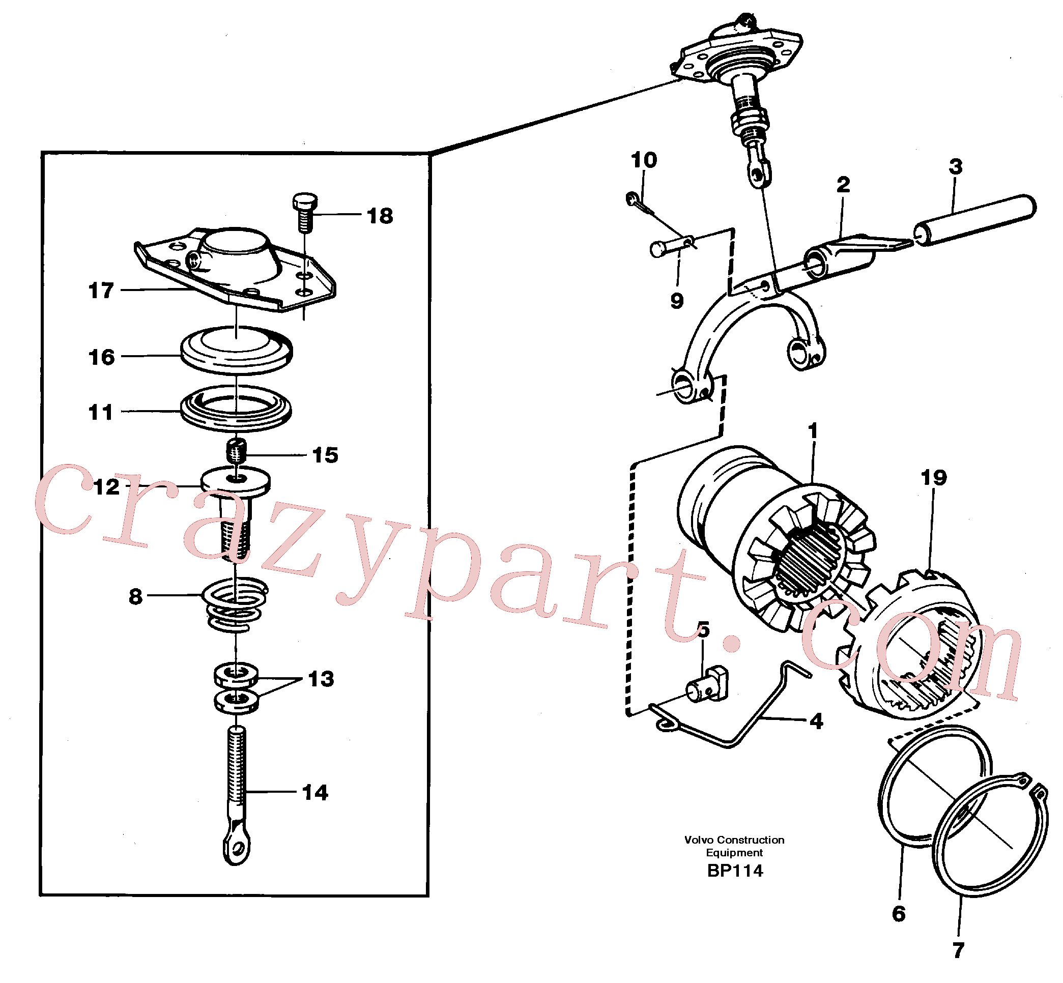 VOE7383971 for Volvo Differential lock(BP114 assembly)