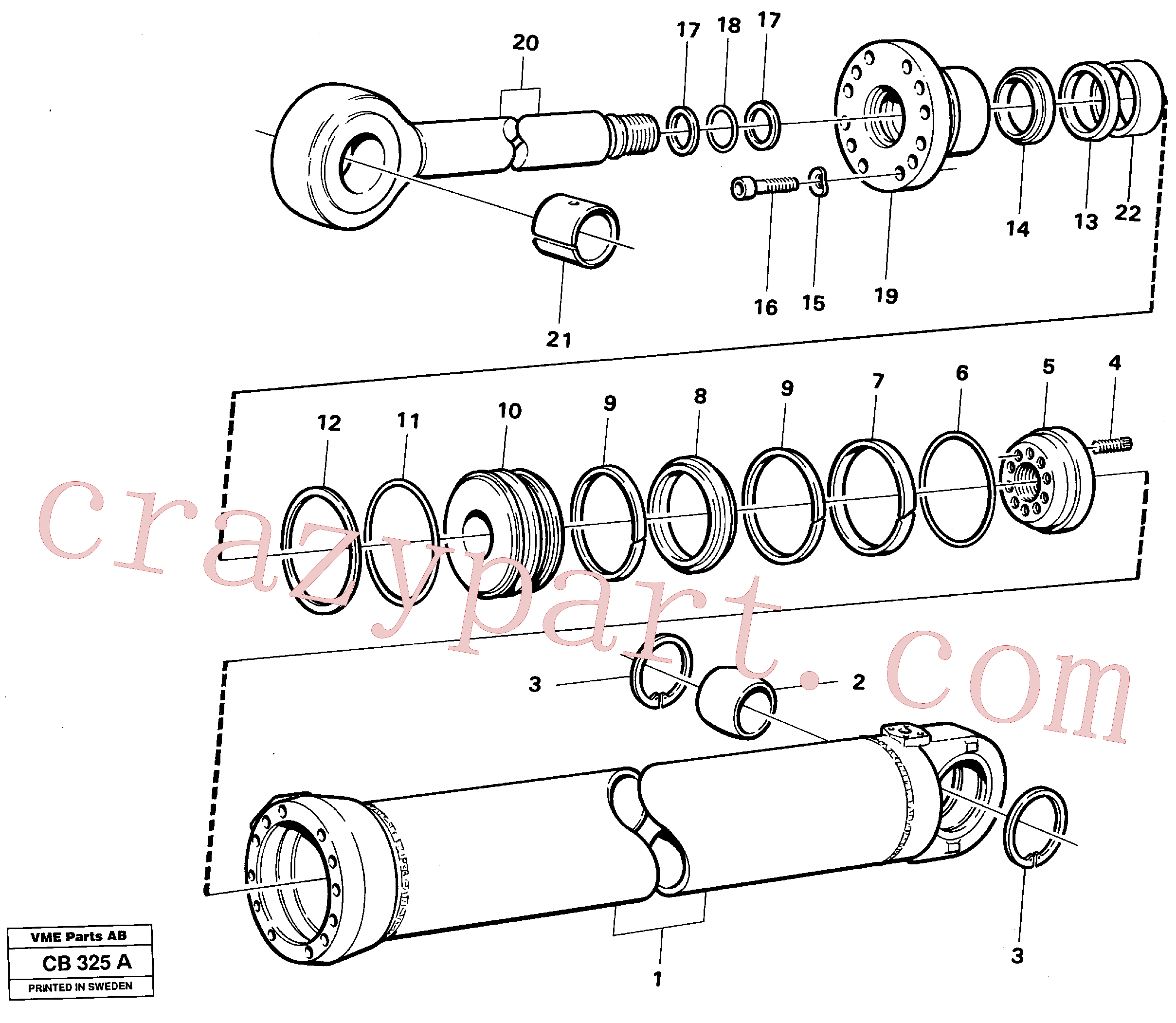 VOE4833295 for Volvo Dipperstick cylinder(CB325A assembly)