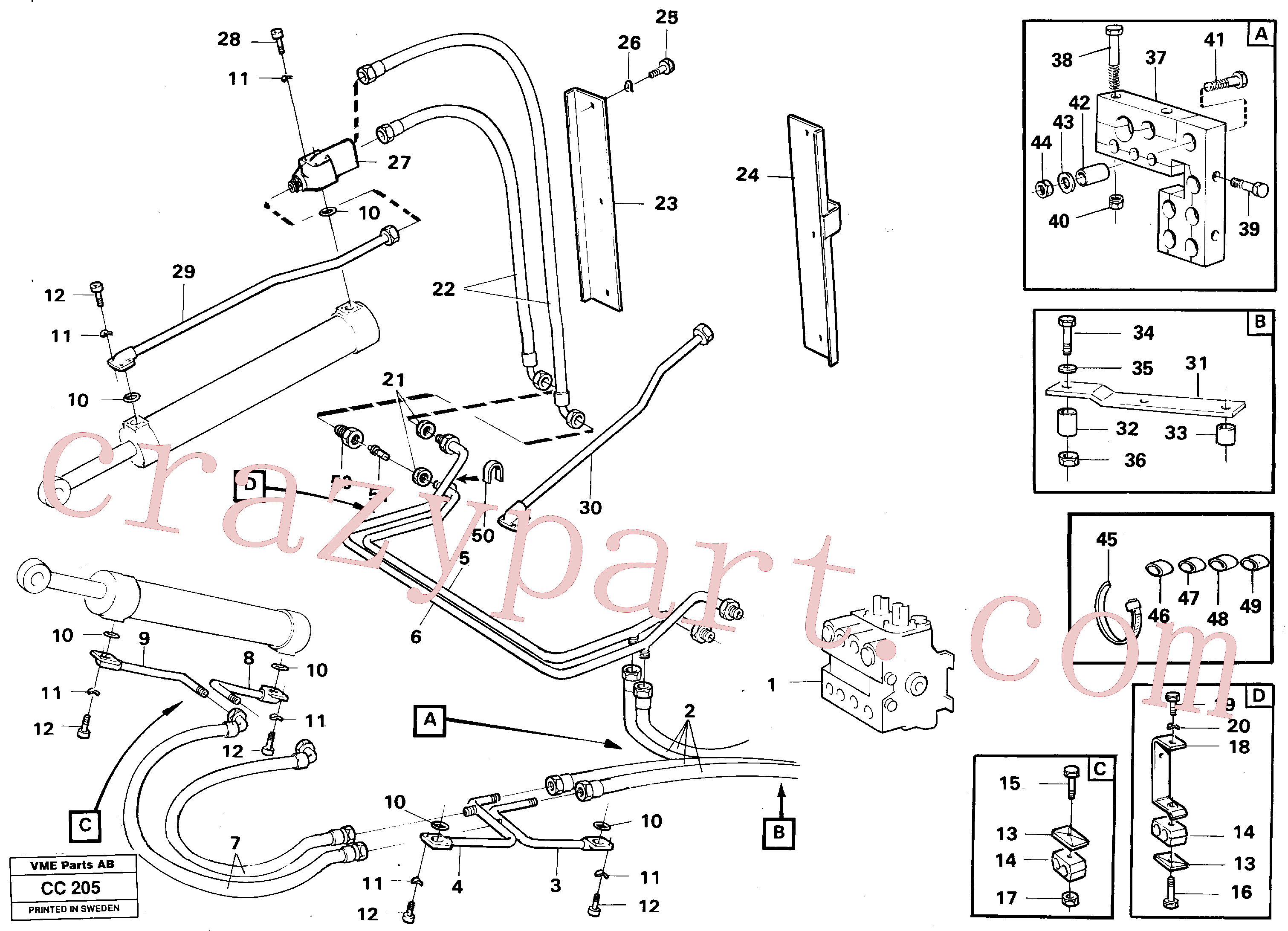 VOE932142 for Volvo Hydraulic system, loader(CC205 assembly)