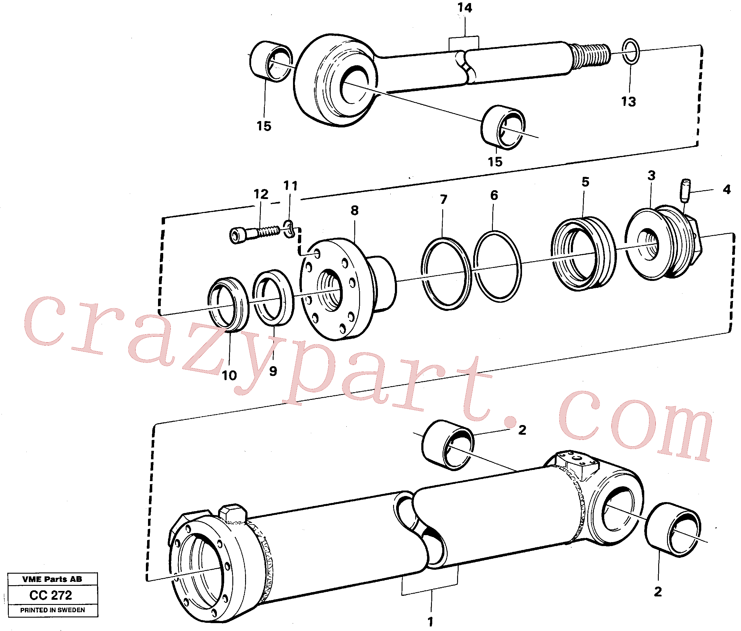 VOE4724499 for Volvo Extendable dipper cylinder(CC272 assembly)