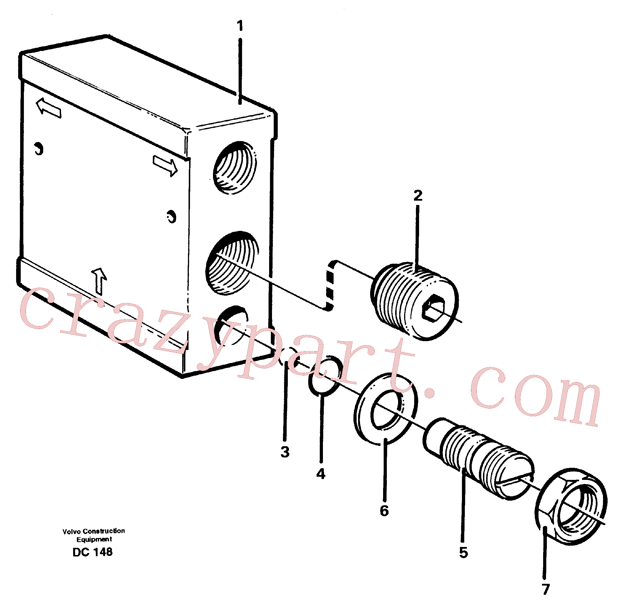 VOE968215 for Volvo Flow distributor(DC148 assembly)