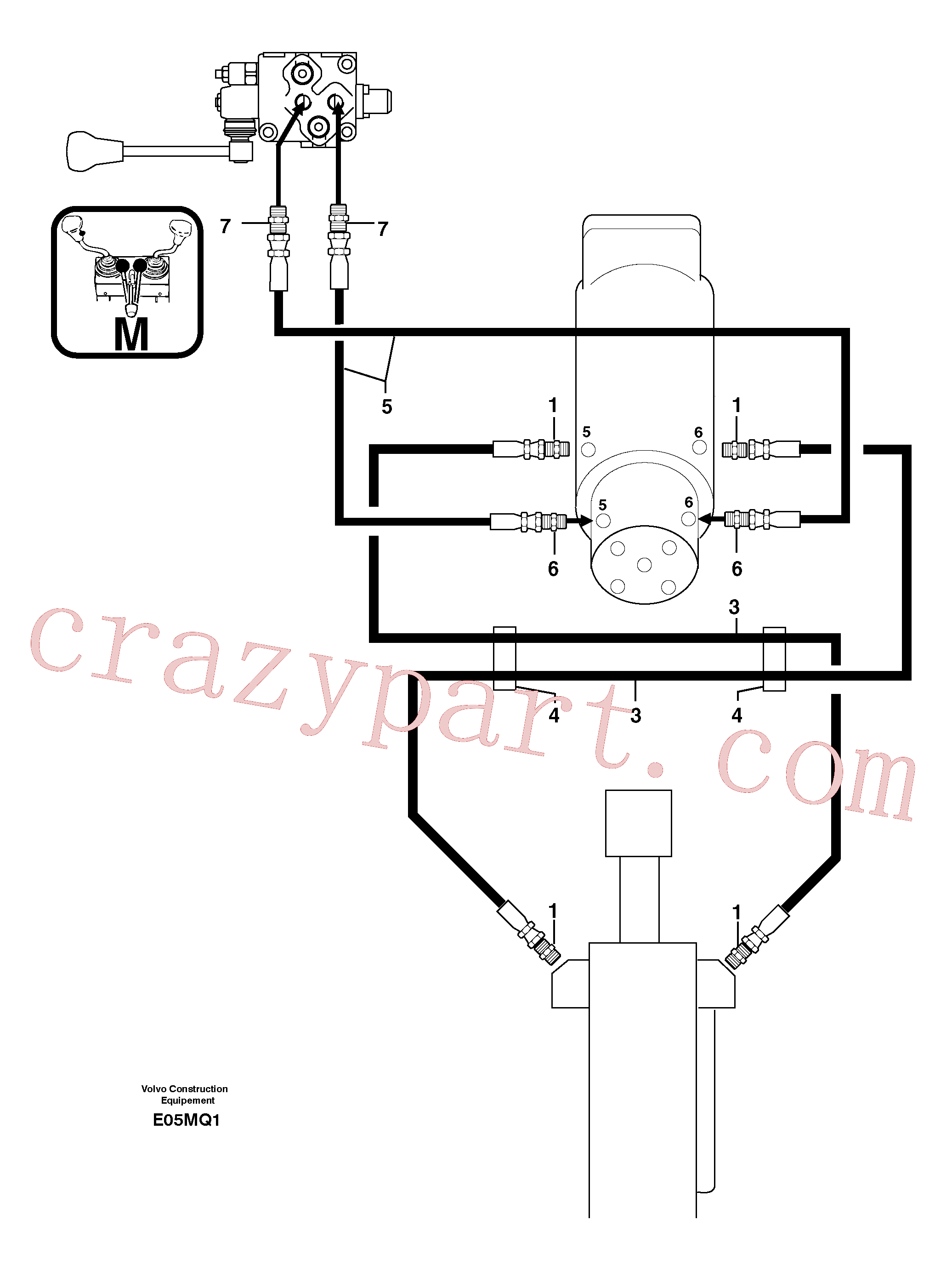 VOE11806399 for Volvo Hydr. circuit. ( dozer blade )(E05MQ1 assembly)