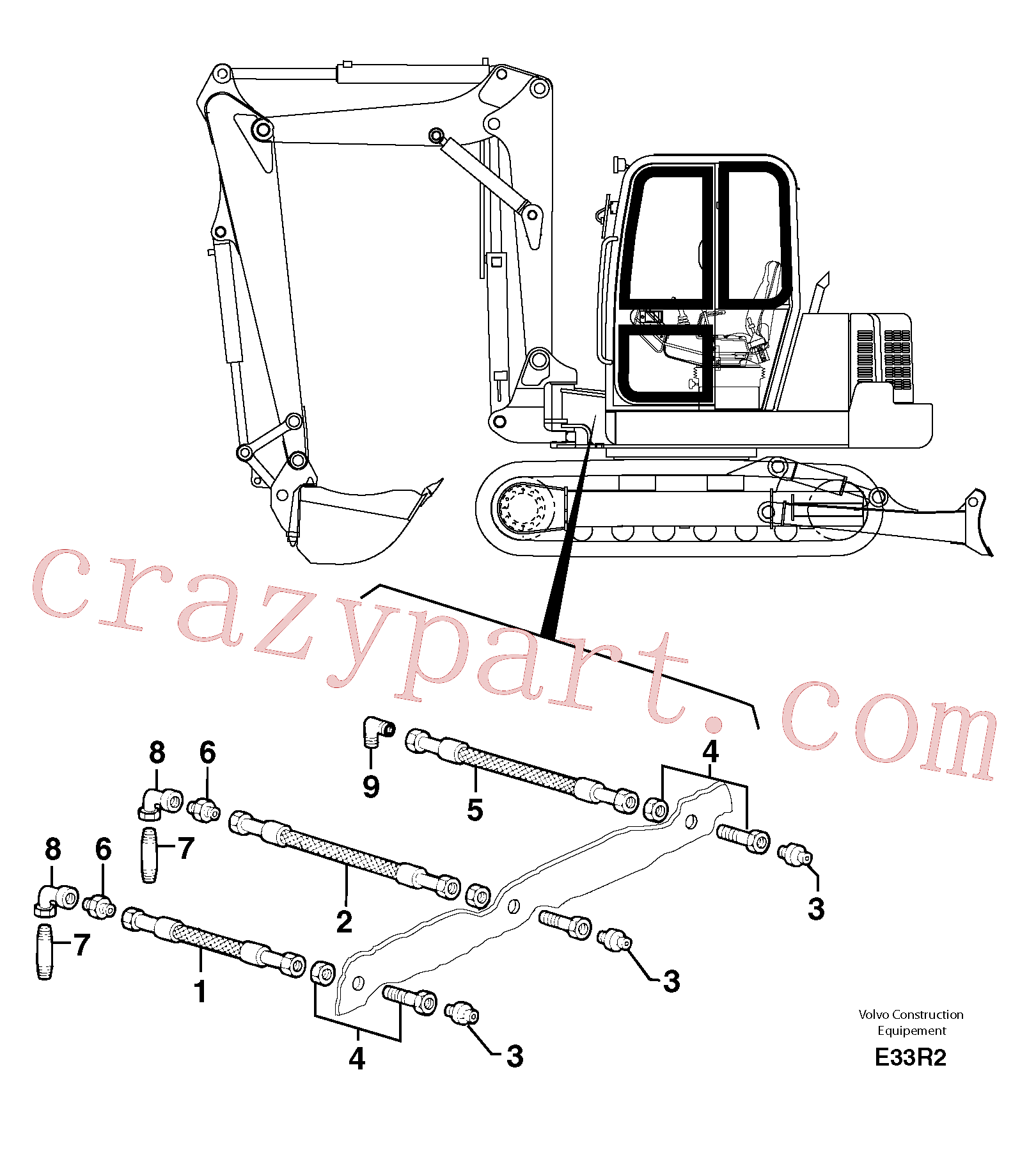 VOE11805866 for Volvo Lubrication chart(E33R2 assembly)