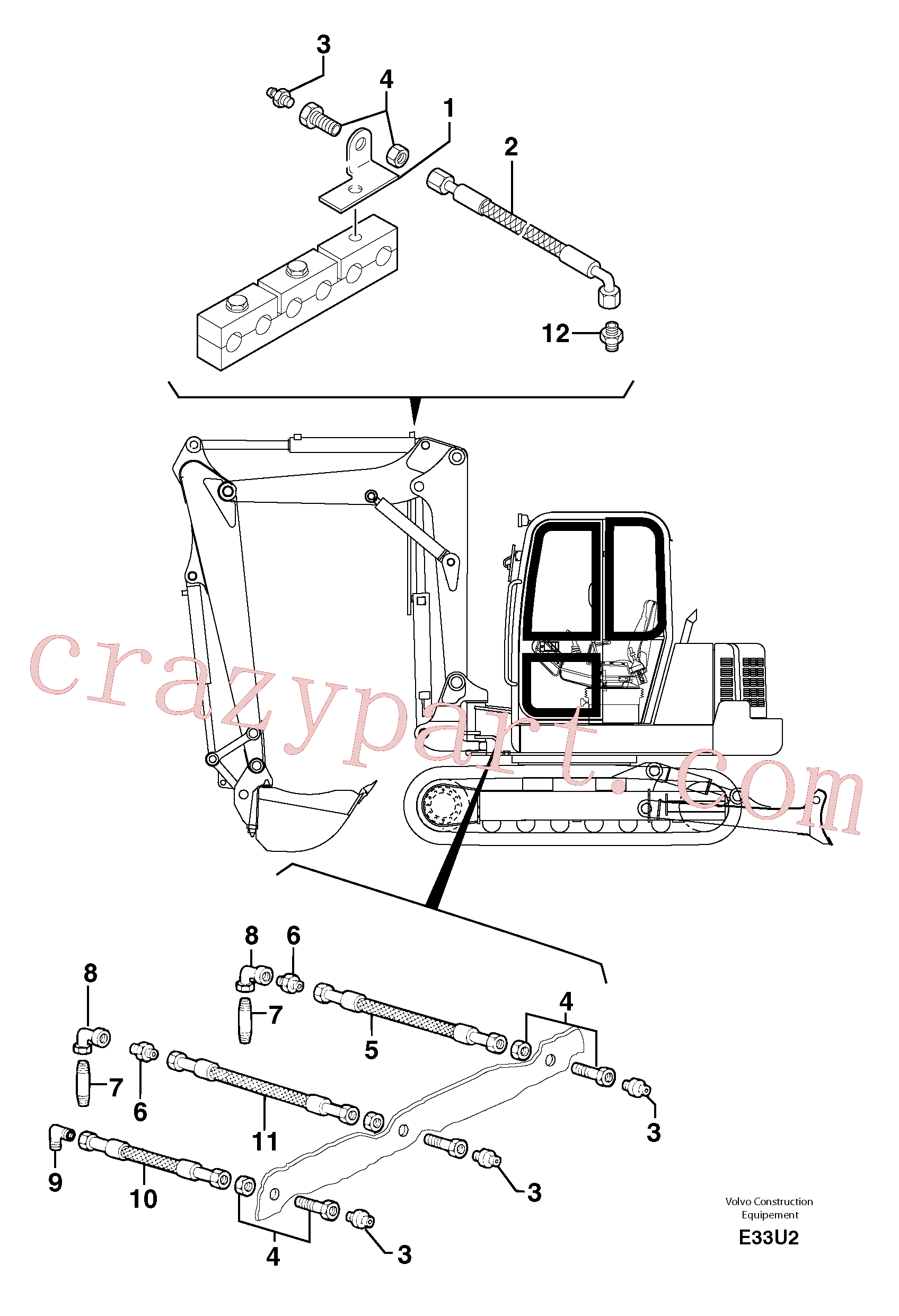 VOE11805866 for Volvo Lubrication chart(E33U2 assembly)