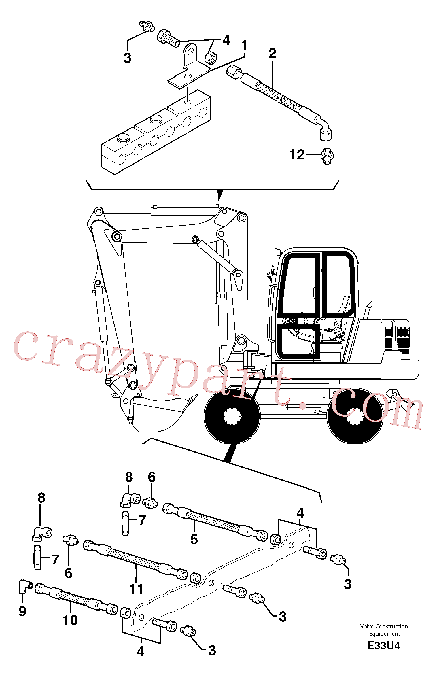 VOE11805866 for Volvo Lubrication chart(E33U4 assembly)