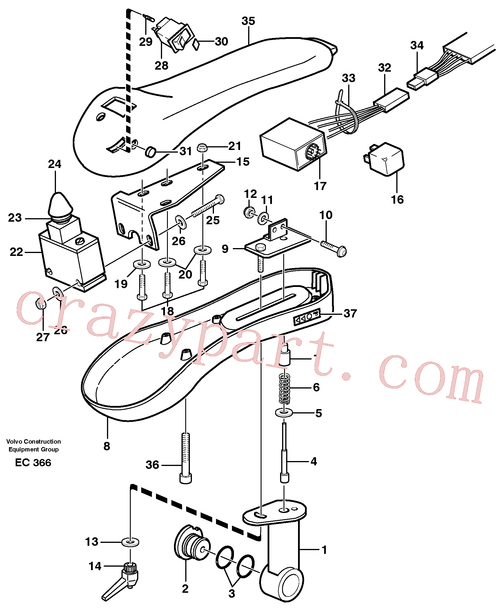 VOE959213 for Volvo Arm rest.(EC366 assembly)