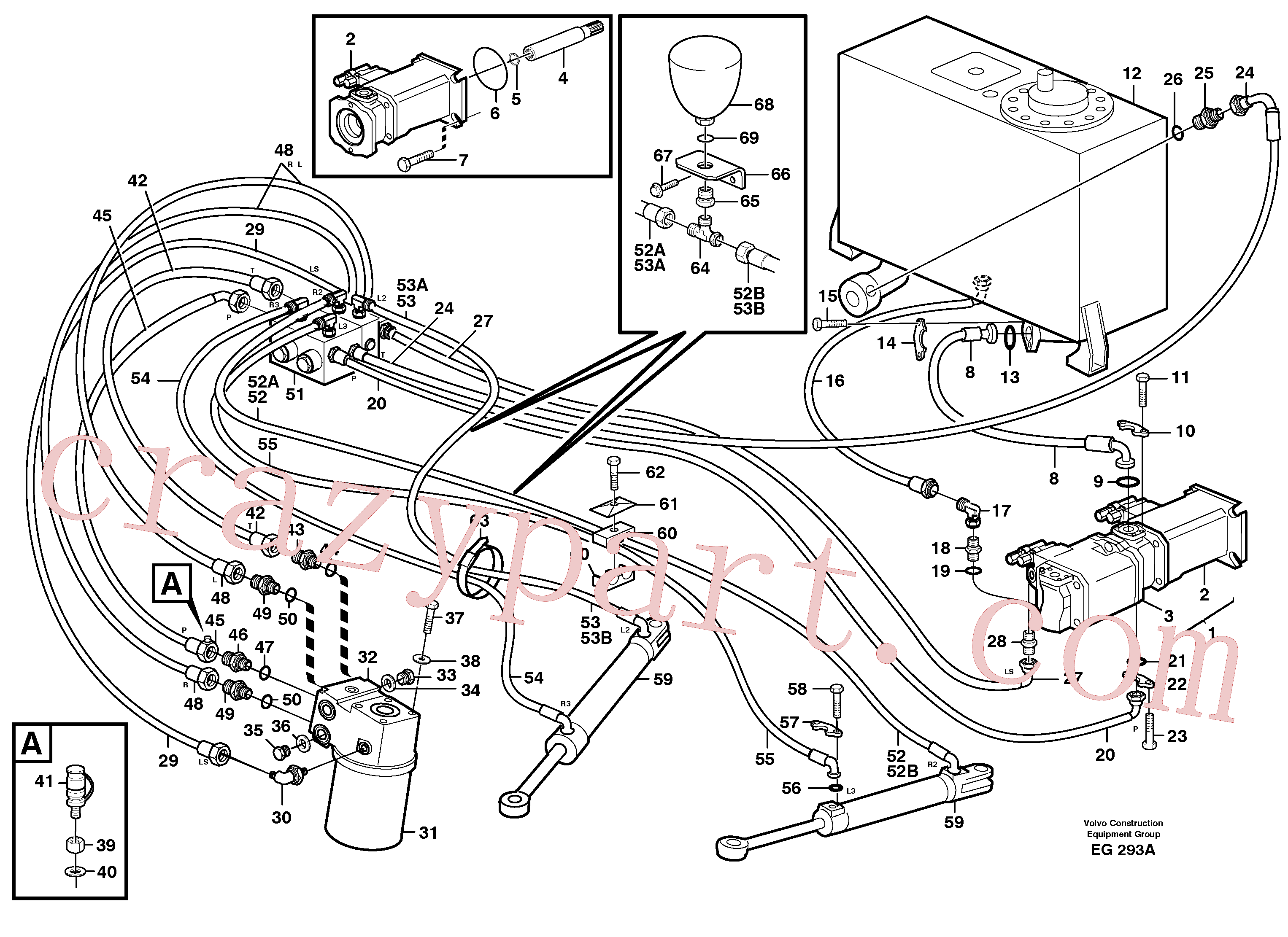 PJ4040038 for Volvo Steering system(EG293A assembly)