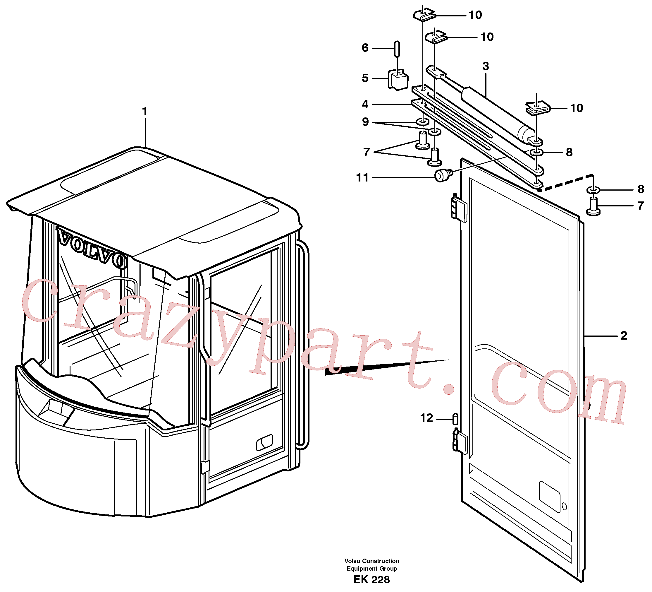 VOE947757 for Volvo Door with fitting parts(EK228 assembly)