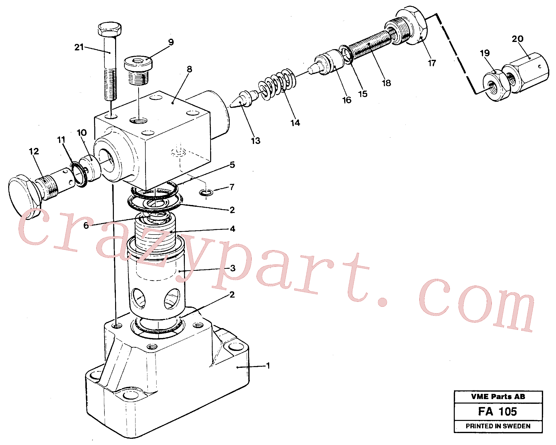 VOE14234399 for Volvo Pressure limiting valve(FA105 assembly)