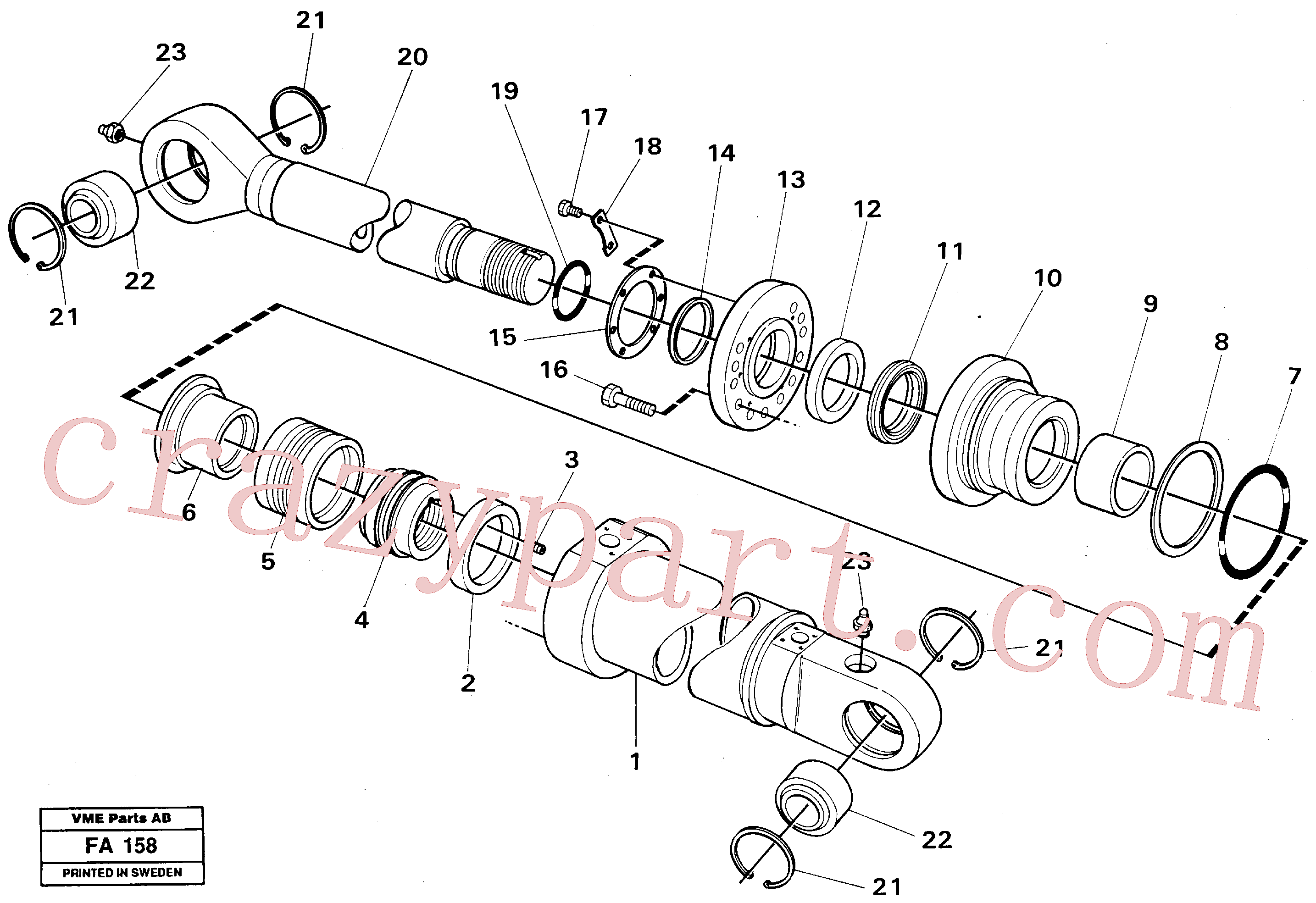 VOE14245985 for Volvo Knuckle cyl. Front shovel cyl.(FA158 assembly)