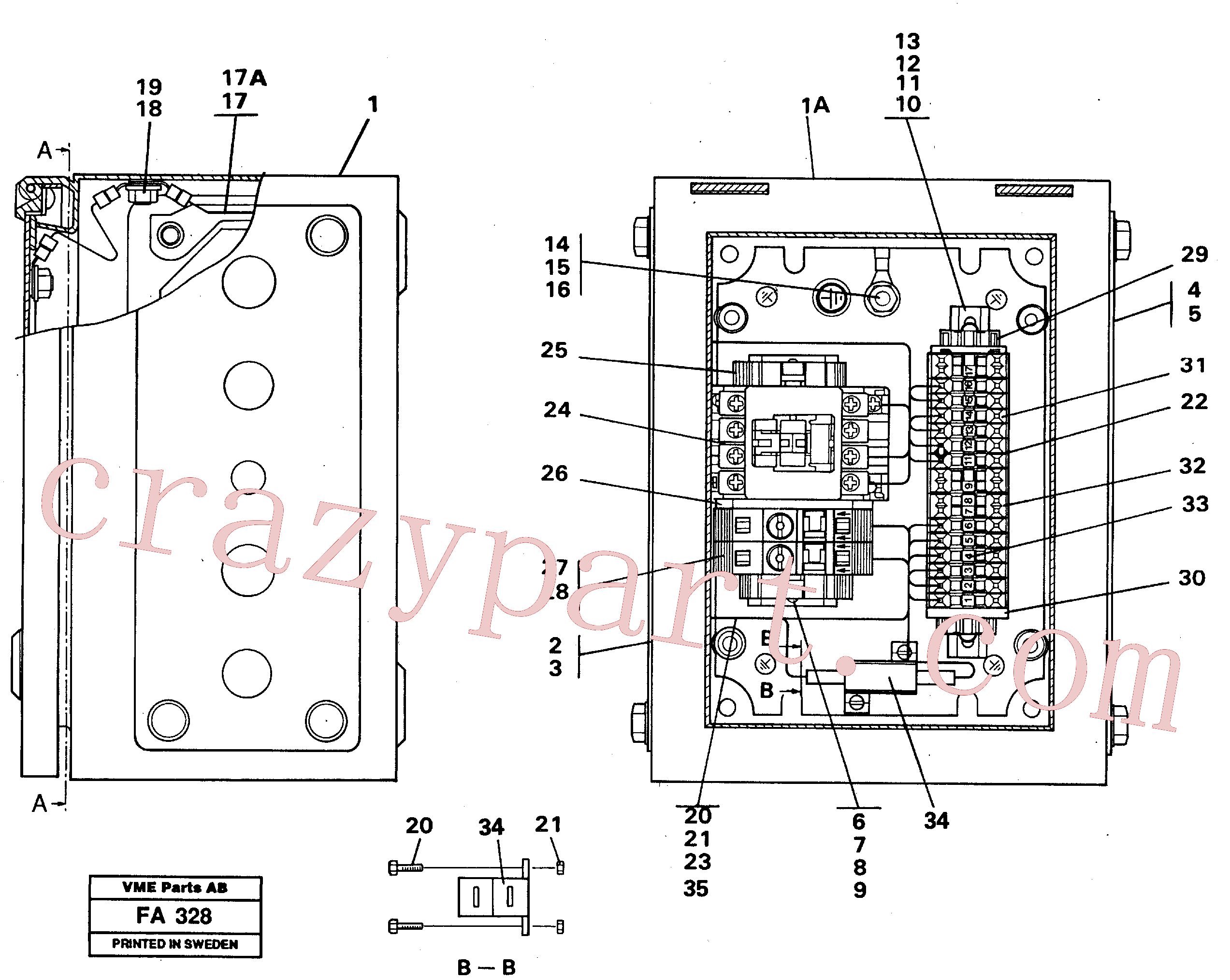 VOE14261691 for Volvo Magnet equipment Ohio, Electrical distribution unit(FA328 assembly)