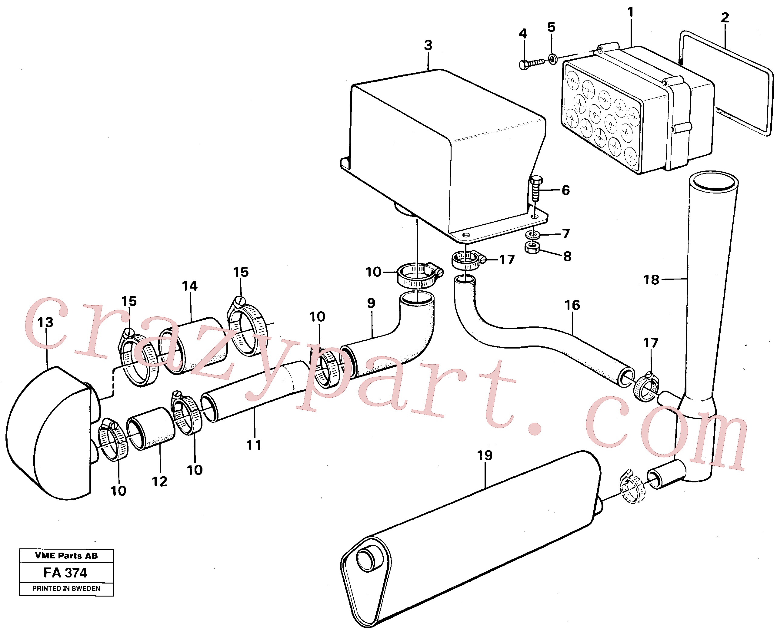 VOE476522 for Volvo Precyclone with ejector(FA374 assembly)