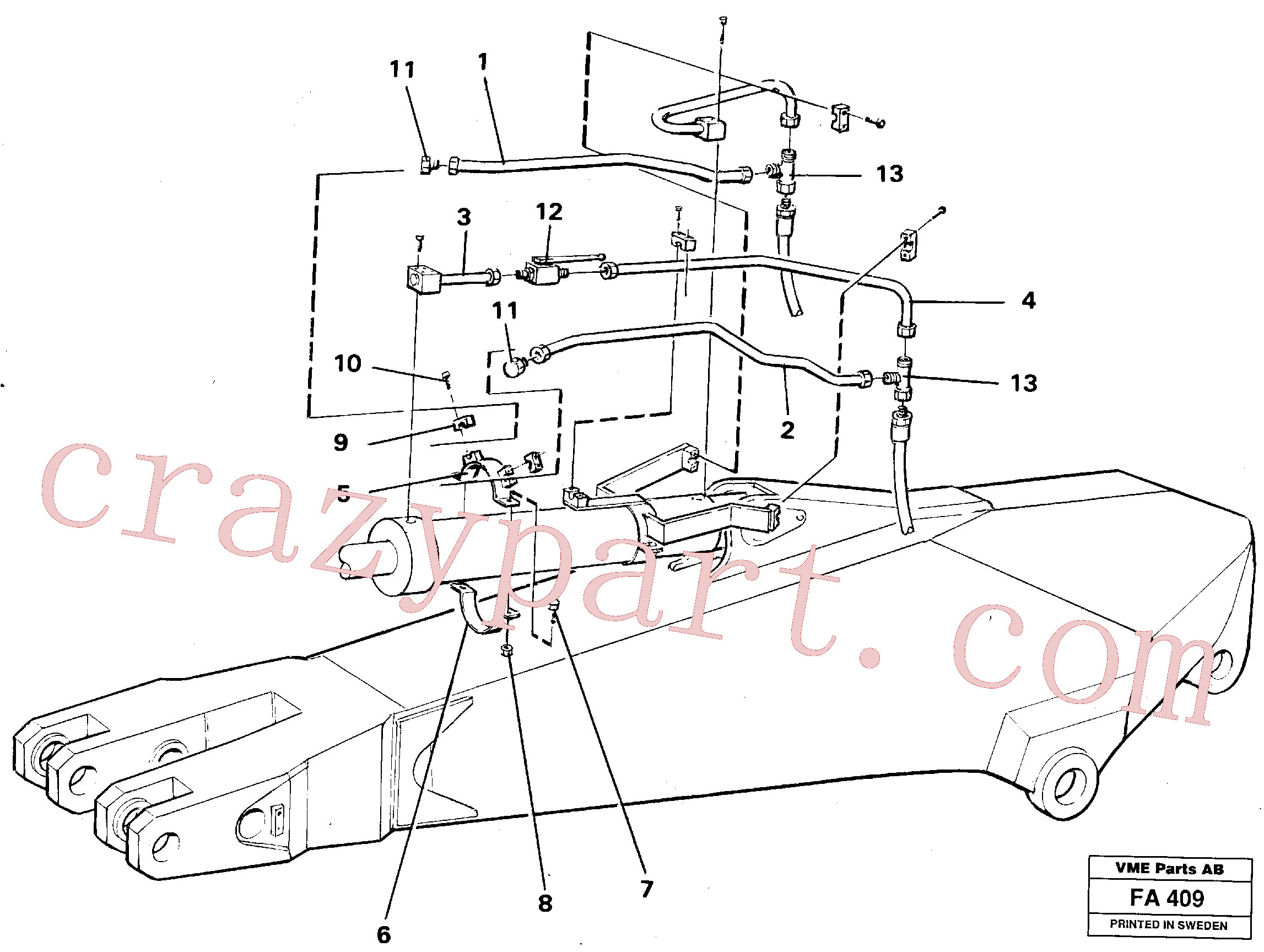 VOE14254935 for Volvo Parallel connected grab hydraulics on dipper arm.(FA409 assembly)