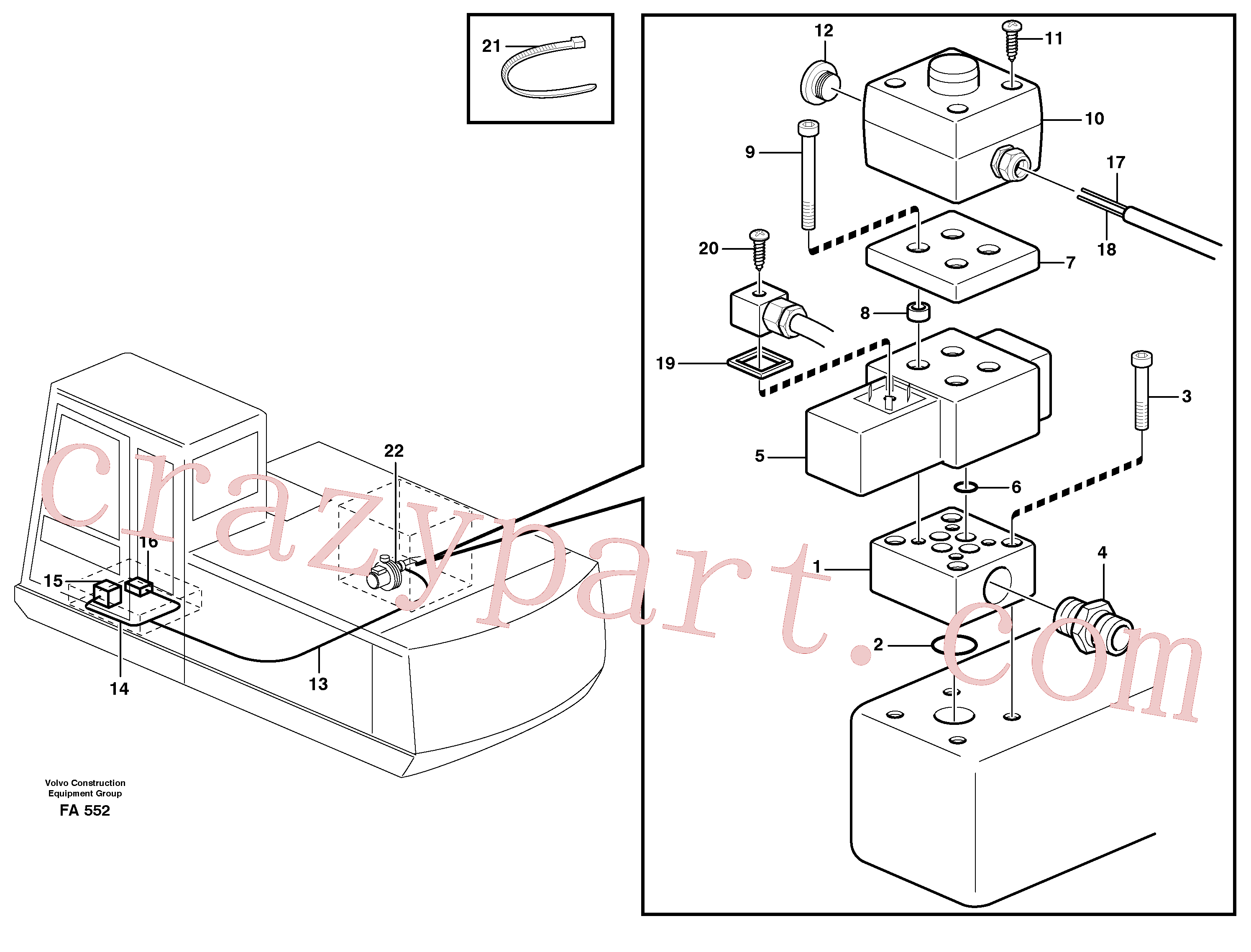 VOE14259409 for Volvo Overfilling guard(FA552 assembly)