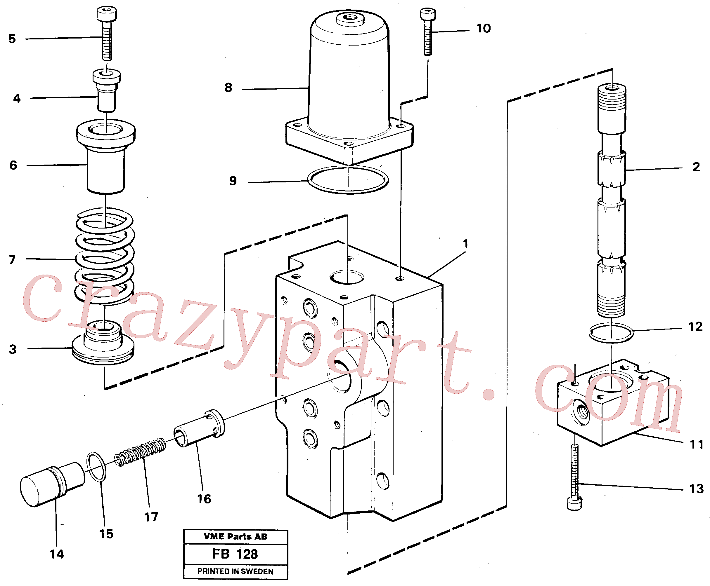 VOE14012282 for Volvo Four-way valves Primary(FB128 assembly)