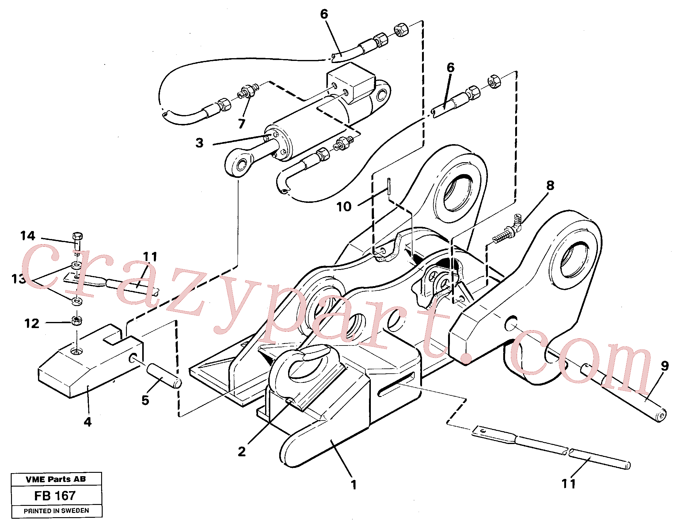VOE14237559 for Volvo Quickfit, hydraulic(FB167 assembly)