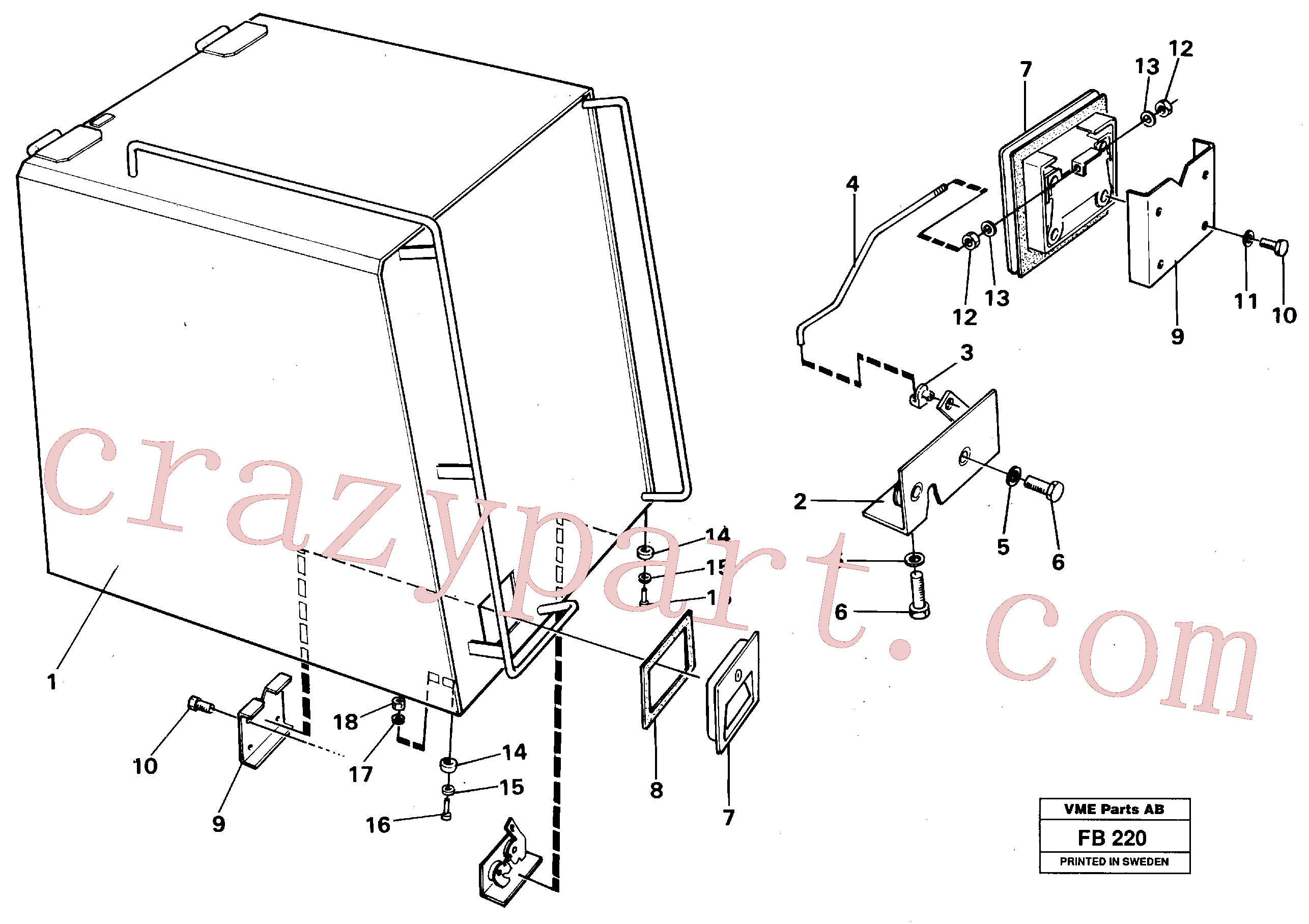 PJ4410007 for Volvo Casing over battery(FB220 assembly)