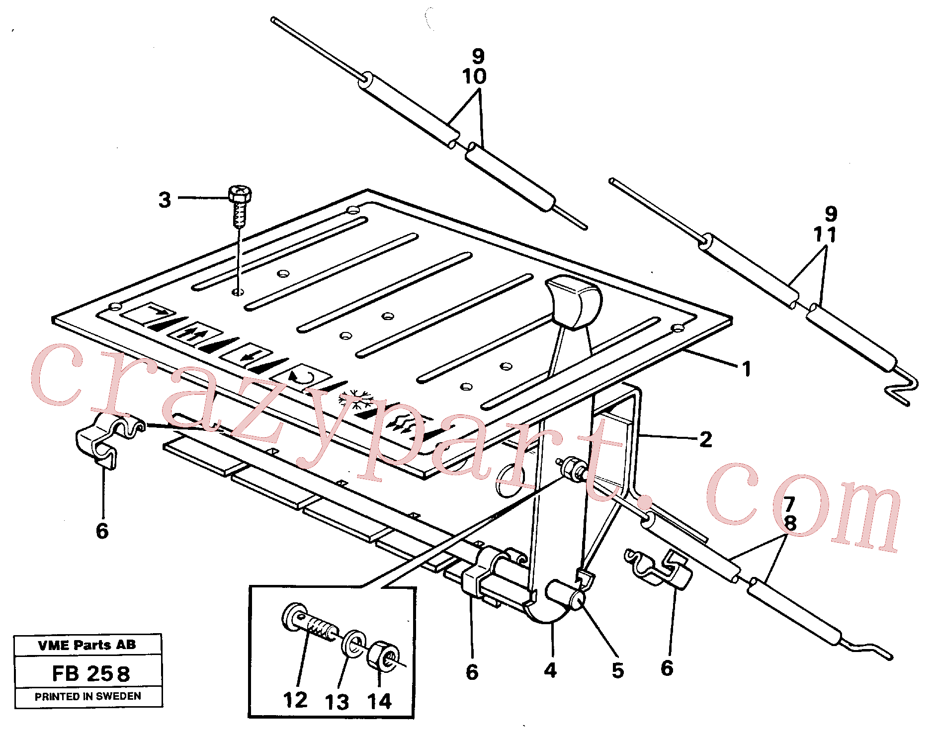 VOE14246695 for Volvo Heater control(FB258 assembly)