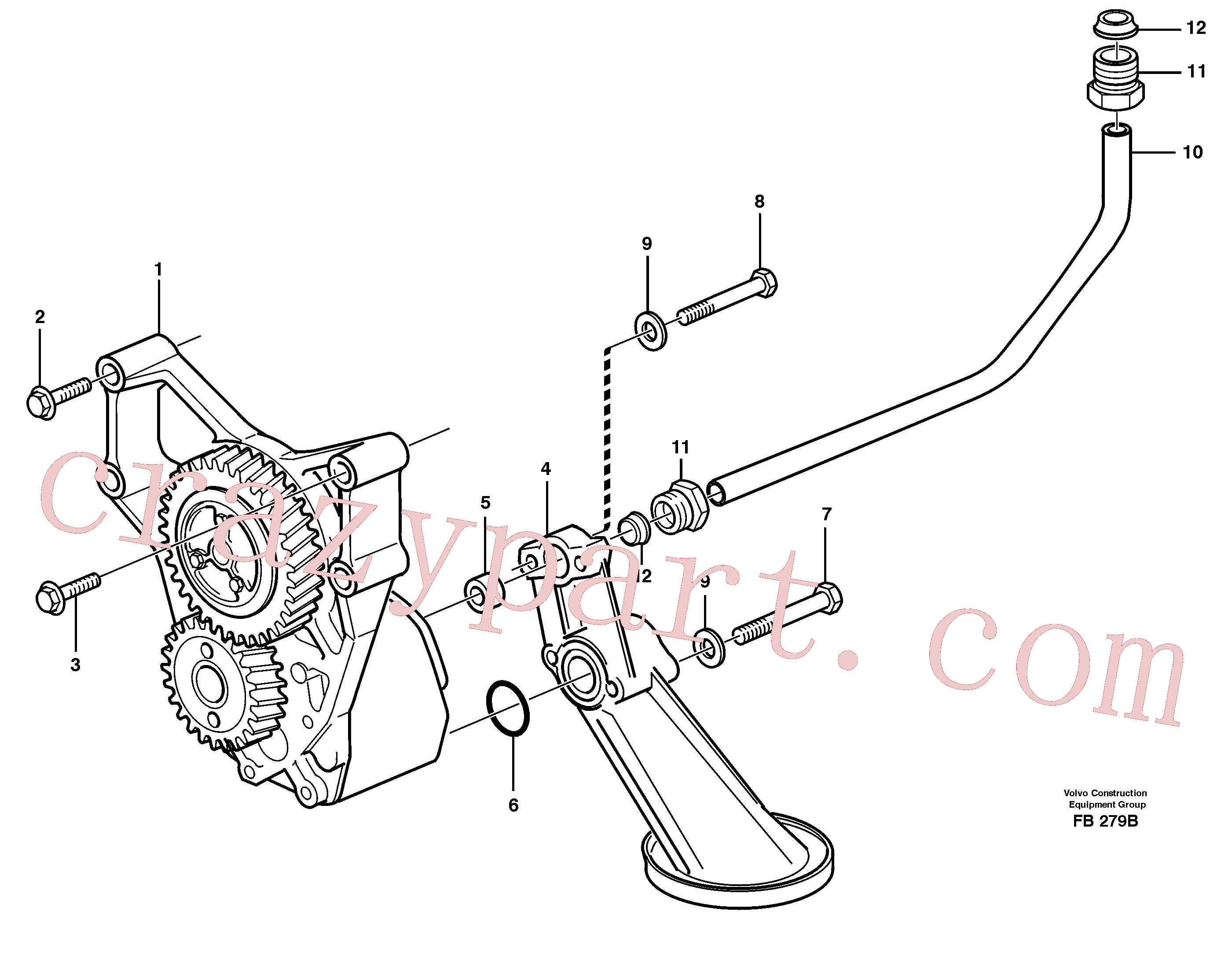VOE980786 for Volvo Lubricating oil system(FB279B assembly)