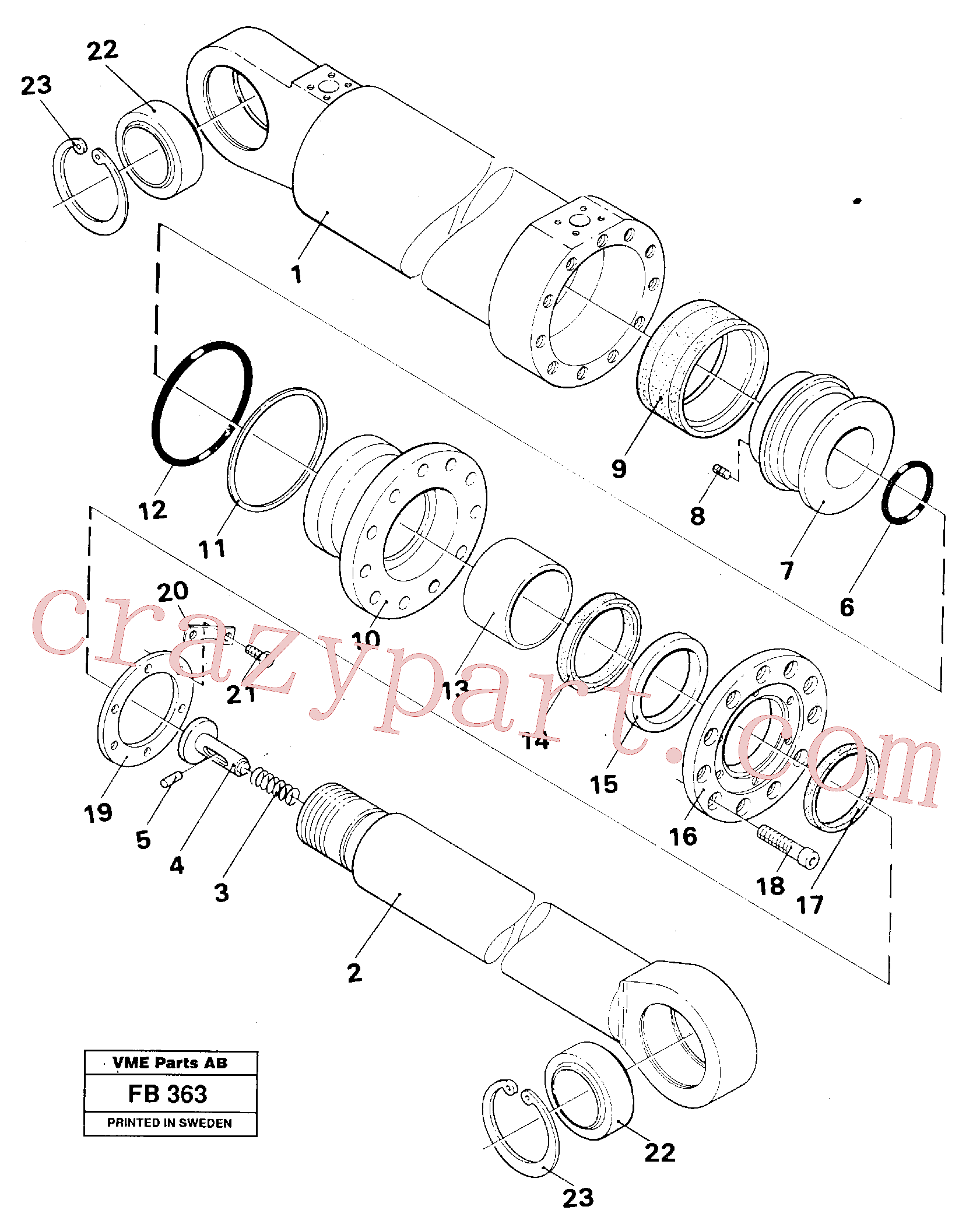 VOE14235919 for Volvo Outrigger cylinder(FB363 assembly)