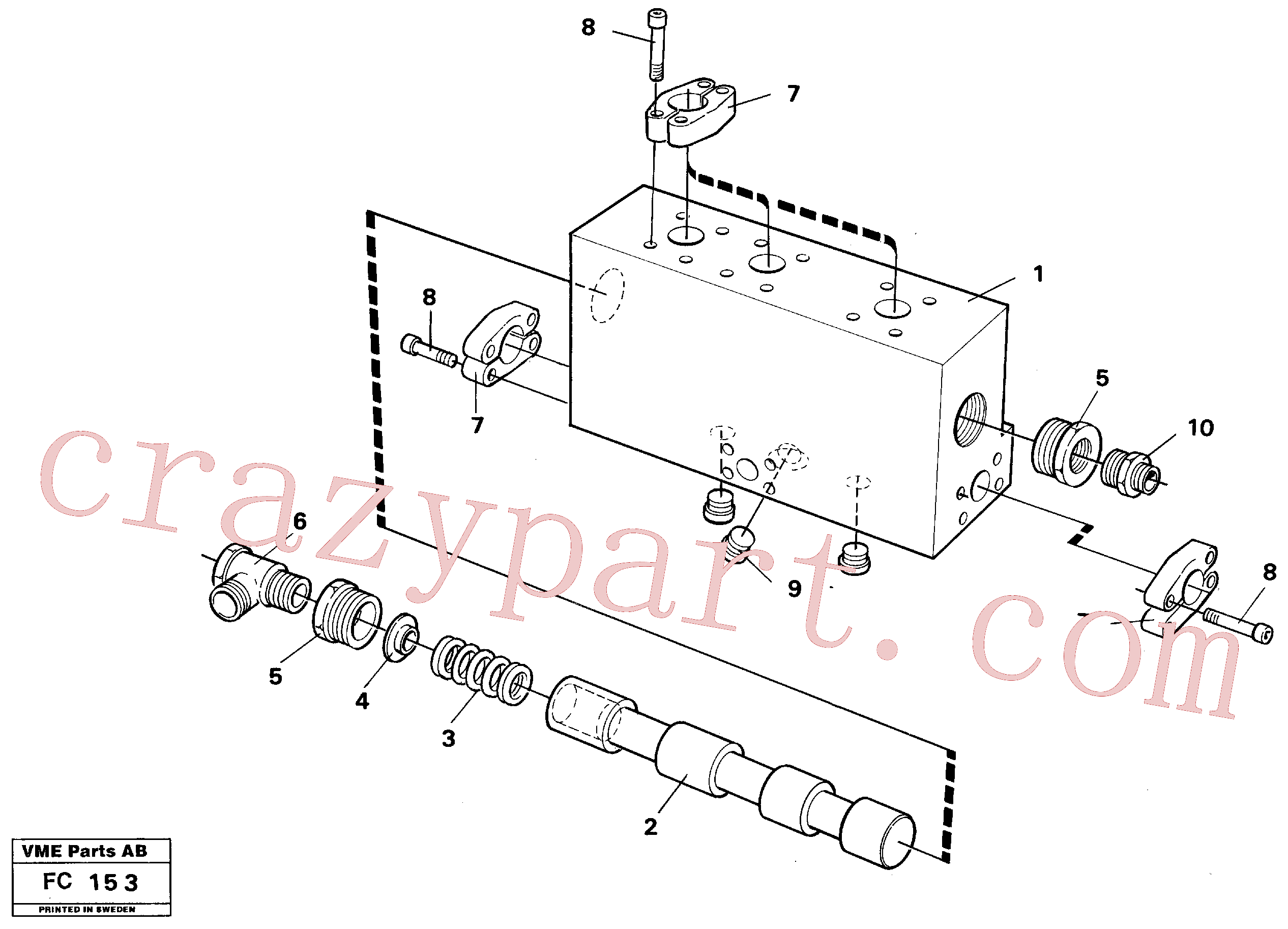 VOE14254547 for Volvo Operating valve, grab bucket(FC153 assembly)