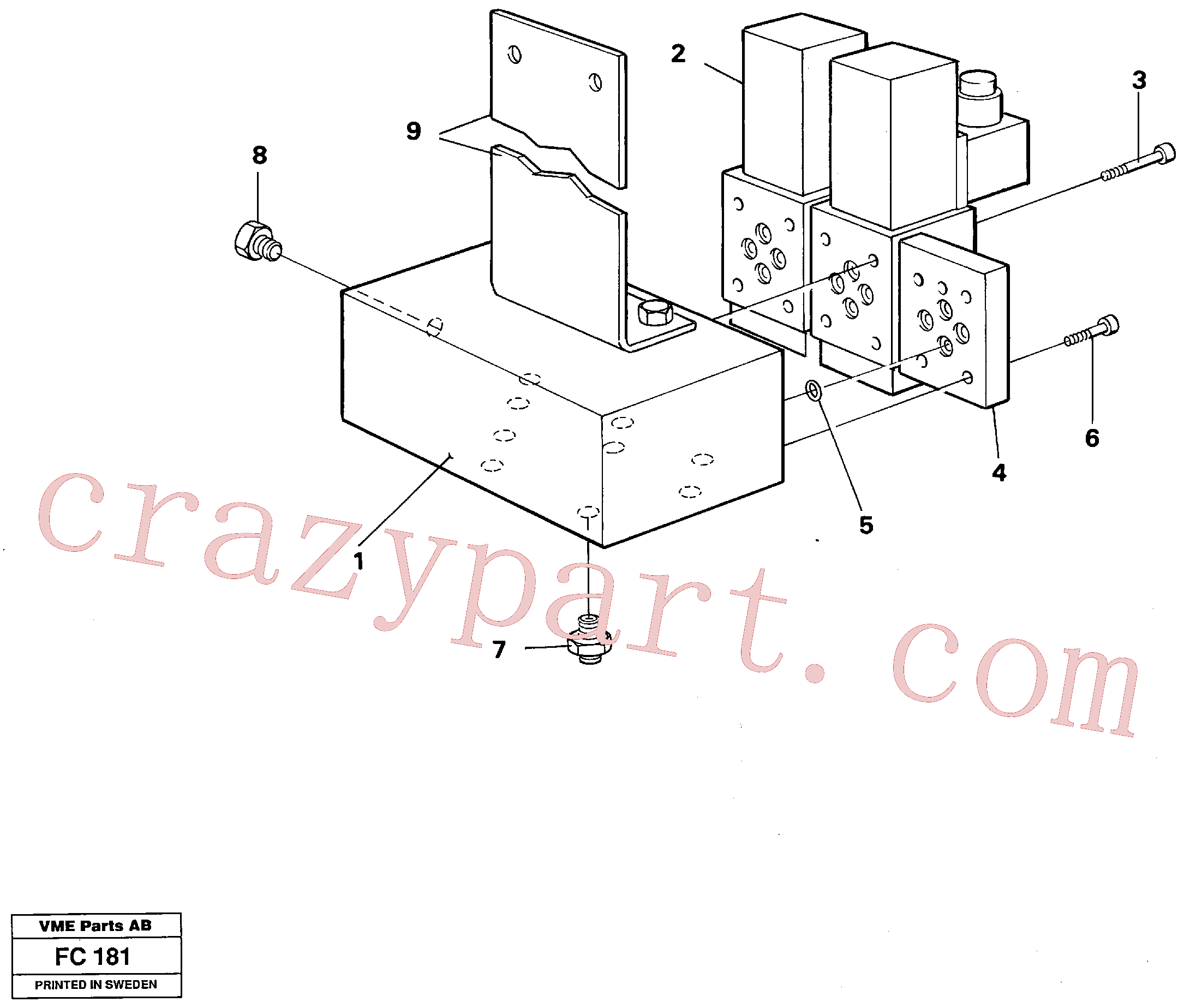 VOE14253388 for Volvo Electric valve block(FC181 assembly)