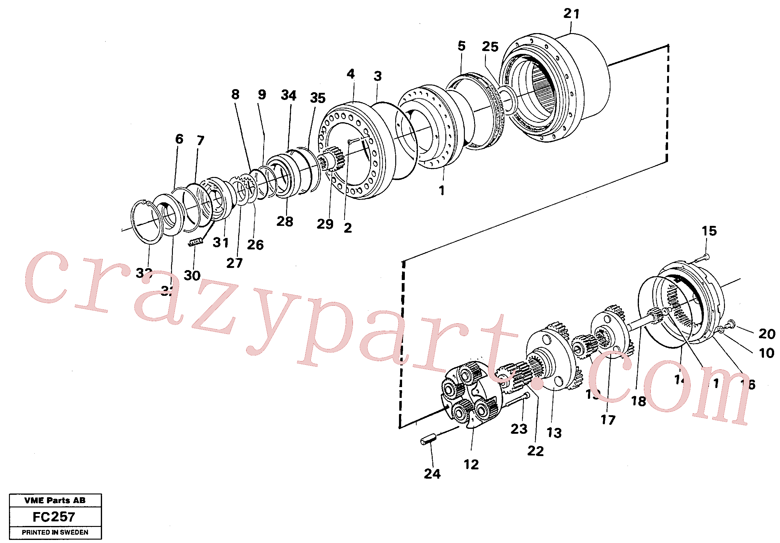 VOE14261972 for Volvo Planetary gear, travel(FC257 assembly)