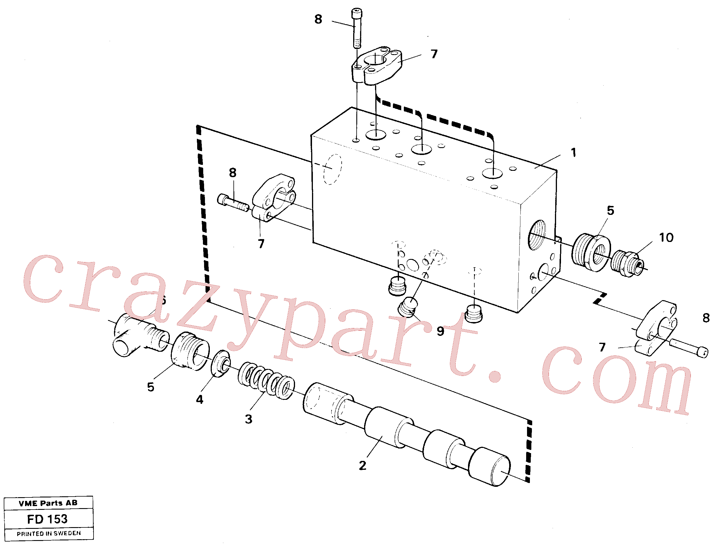 VOE14254547 for Volvo Operating valve, grab bucket(FD153 assembly)