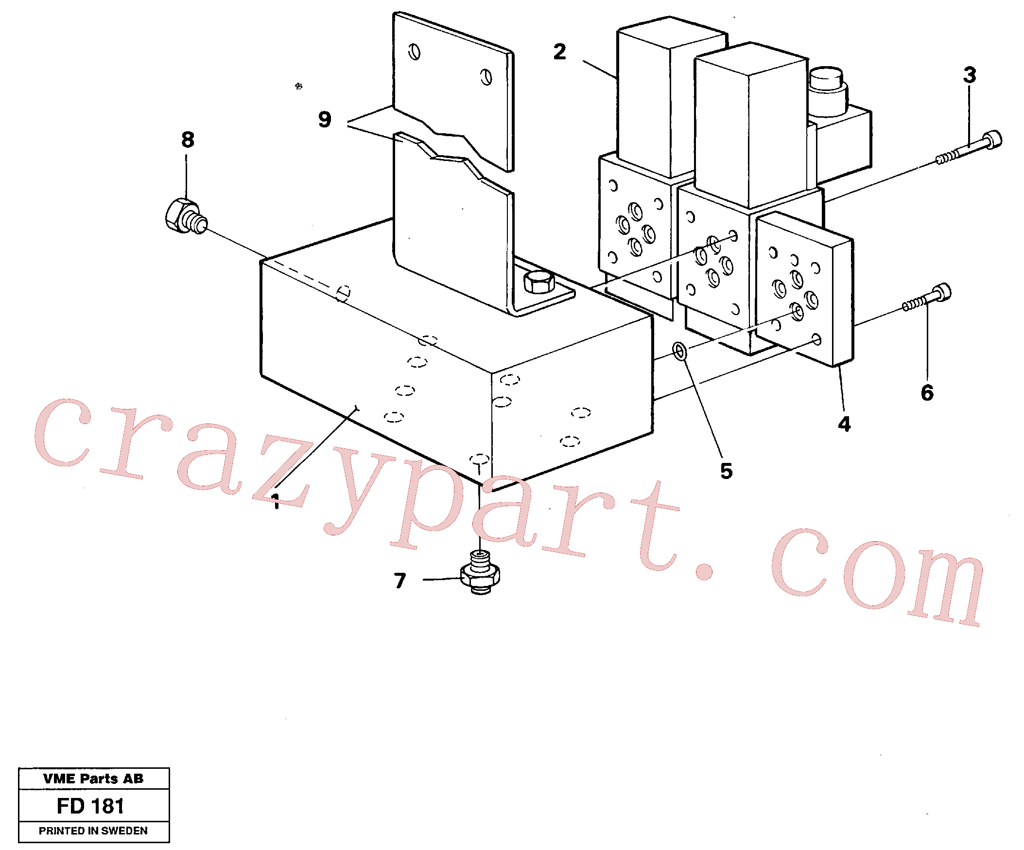 VOE14253388 for Volvo Electric valve block(FD181 assembly)
