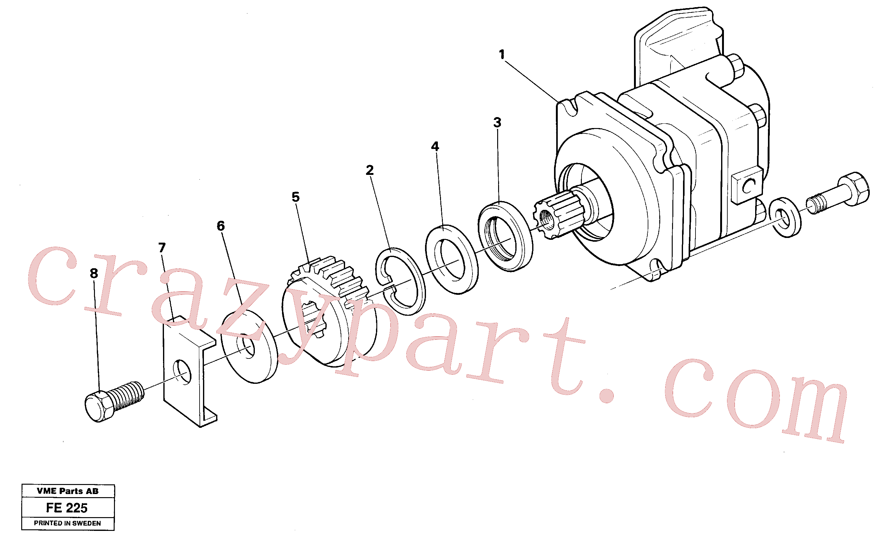 VOE14054668 for Volvo Hydraulic motor(FE225 assembly)