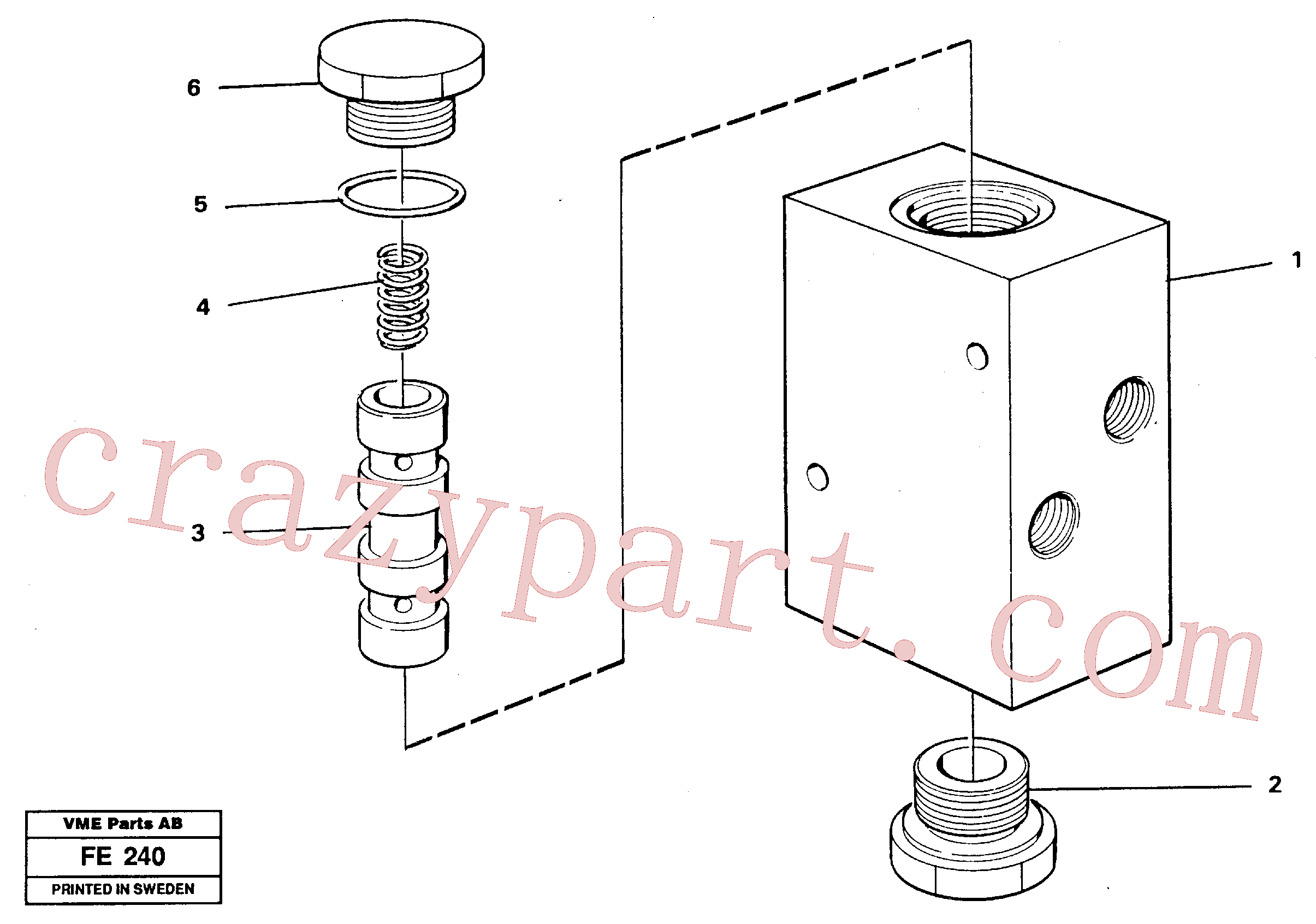 VOE14232860 for Volvo Valve, travel brake(FE240 assembly)