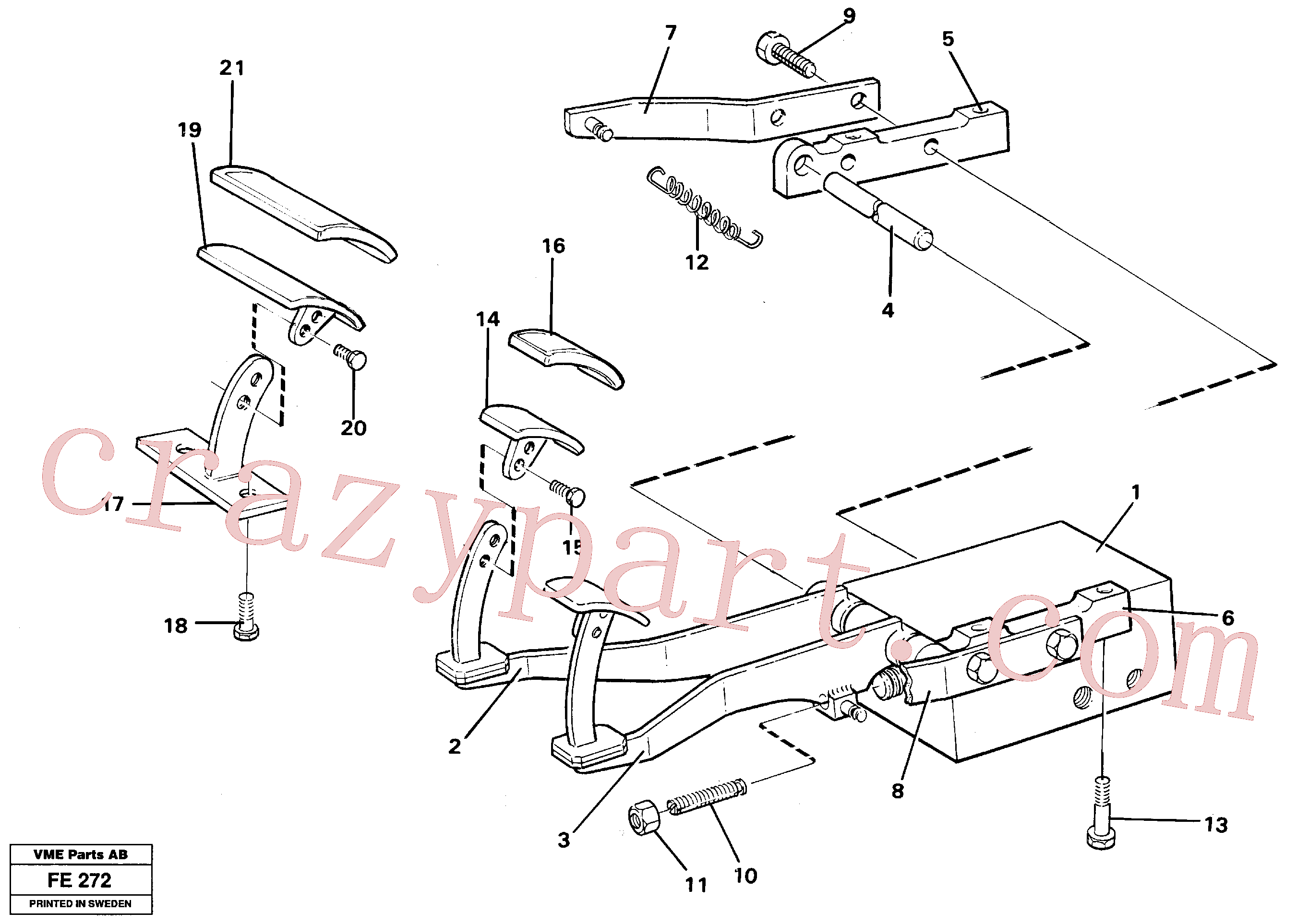VOE14243548 for Volvo Pedal valve with foot rest(FE272 assembly)