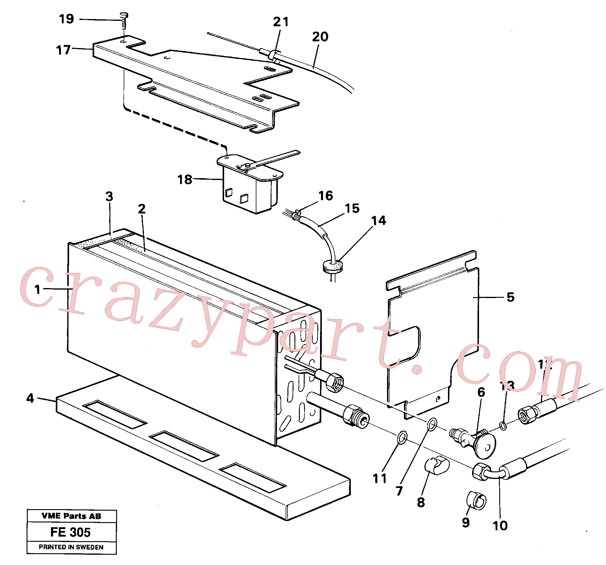 VOE14245583 for Volvo Evaporator with fitting parts(FE305 assembly)