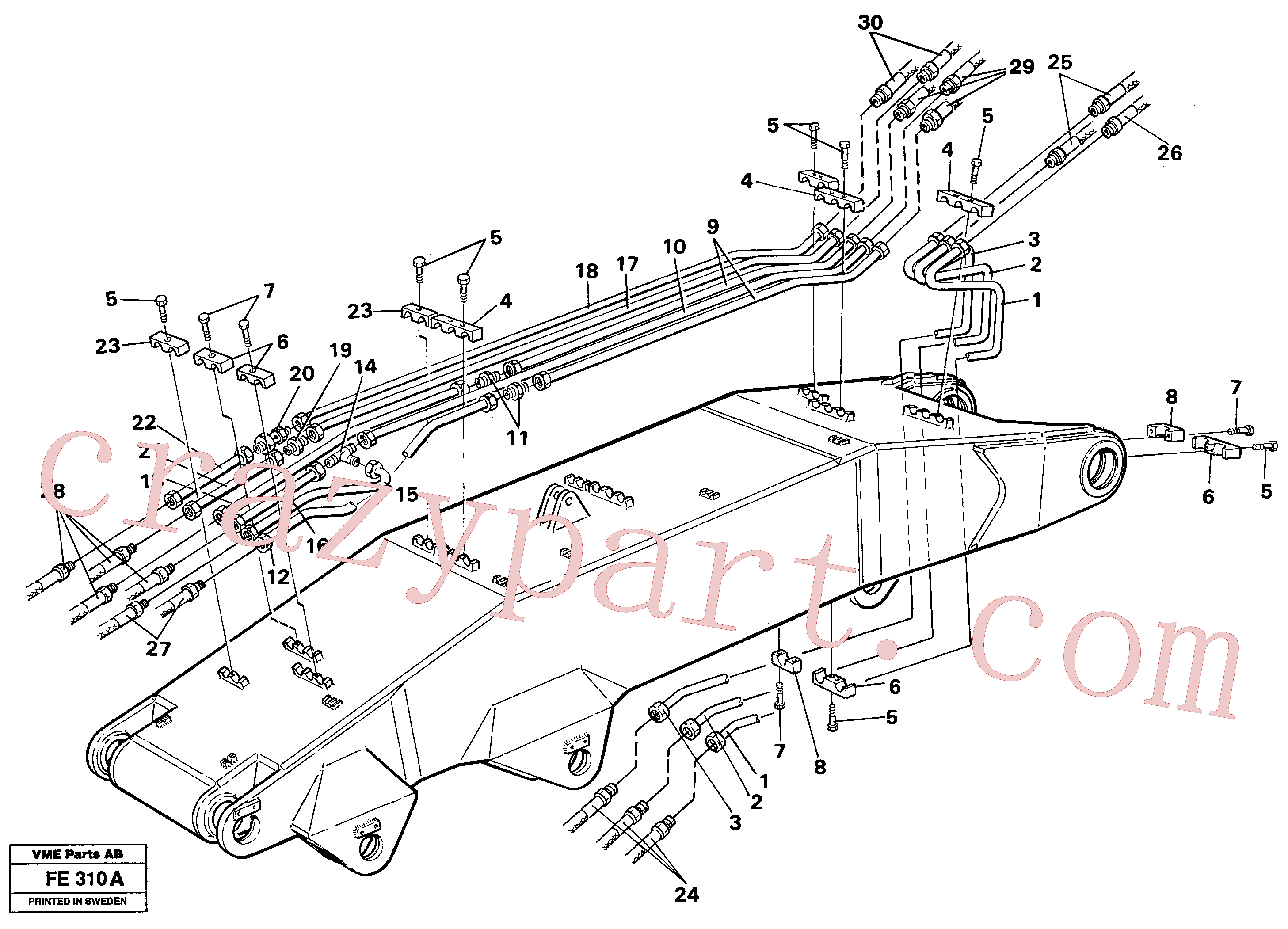 VOE14055747 for Volvo Hydraulic system, boom, front shovel equipment(FE310A assembly)