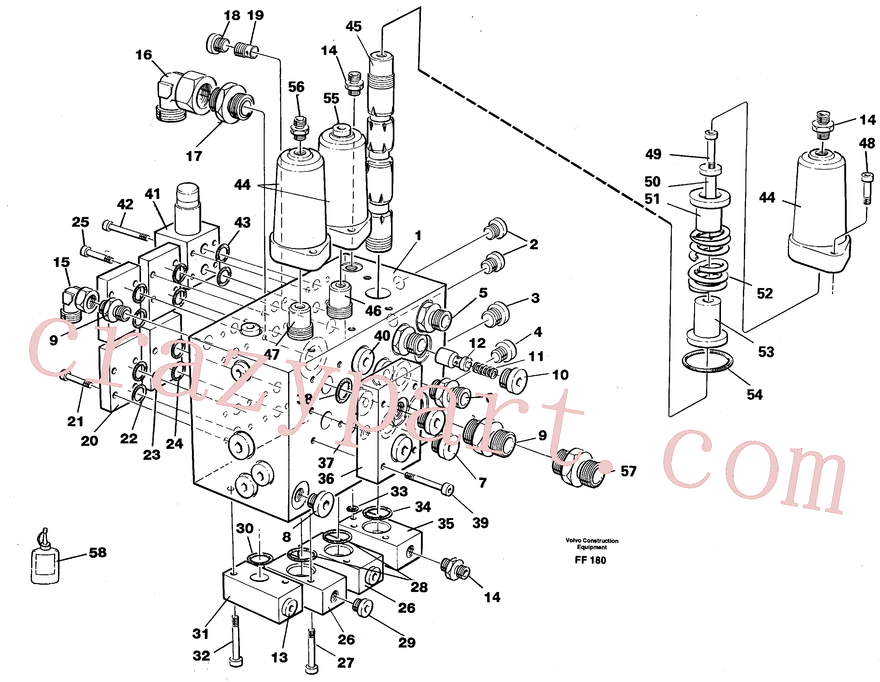VOE14213280 for Volvo Slew valve assembly(FF180 assembly)
